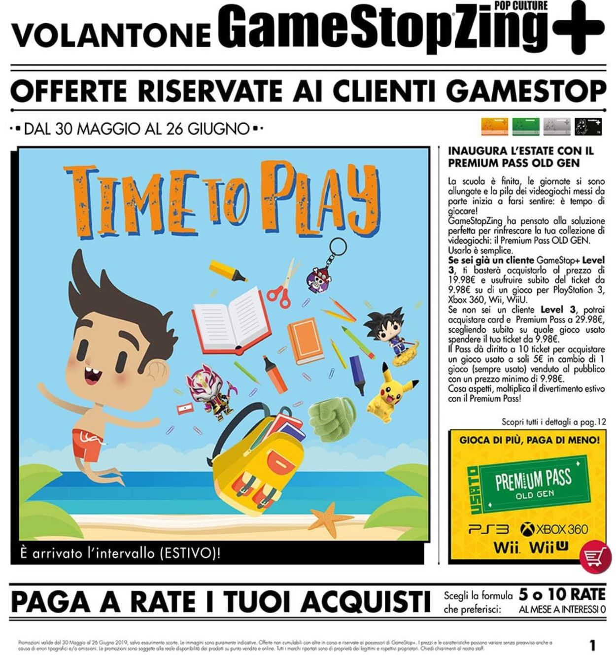 Volantino Gamestop - Offerte 30/05-26/06/2019