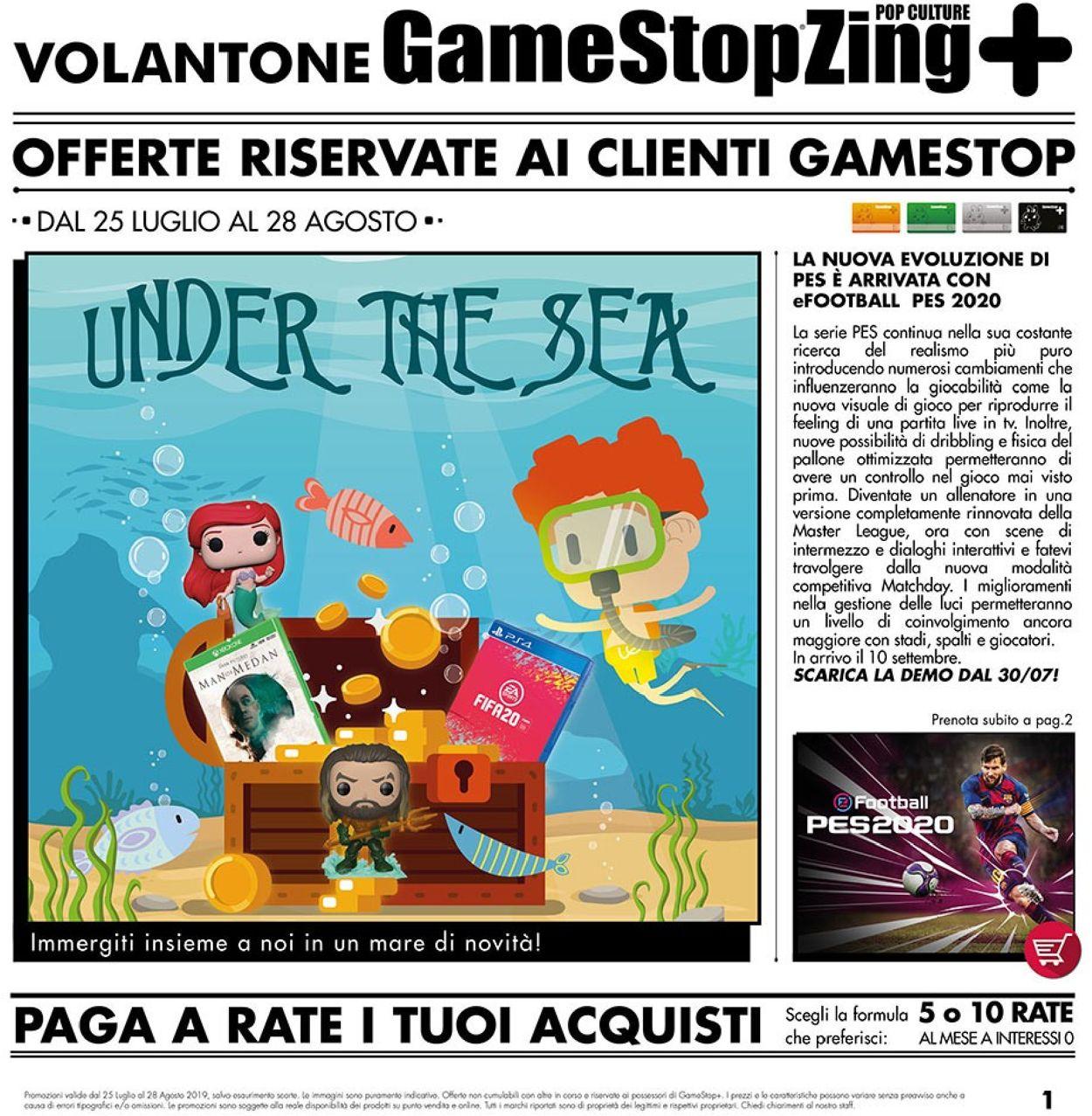 Volantino Gamestop - Offerte 25/07-28/08/2019