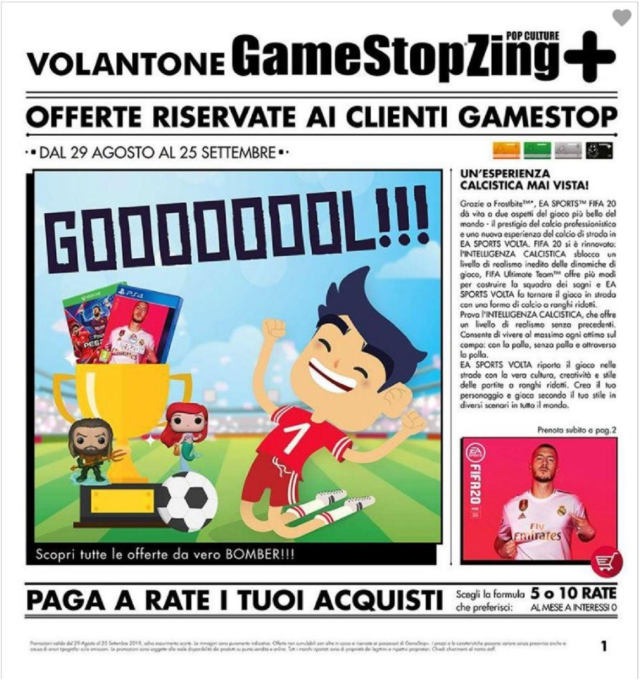 Volantino Gamestop - Offerte 29/08-25/09/2019