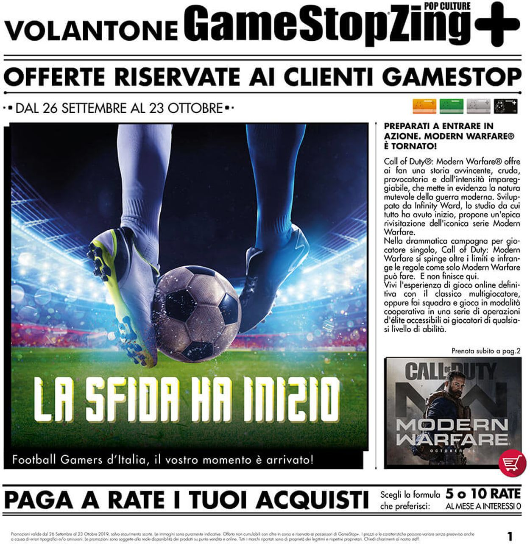 Volantino Gamestop - Offerte 26/09-23/10/2019