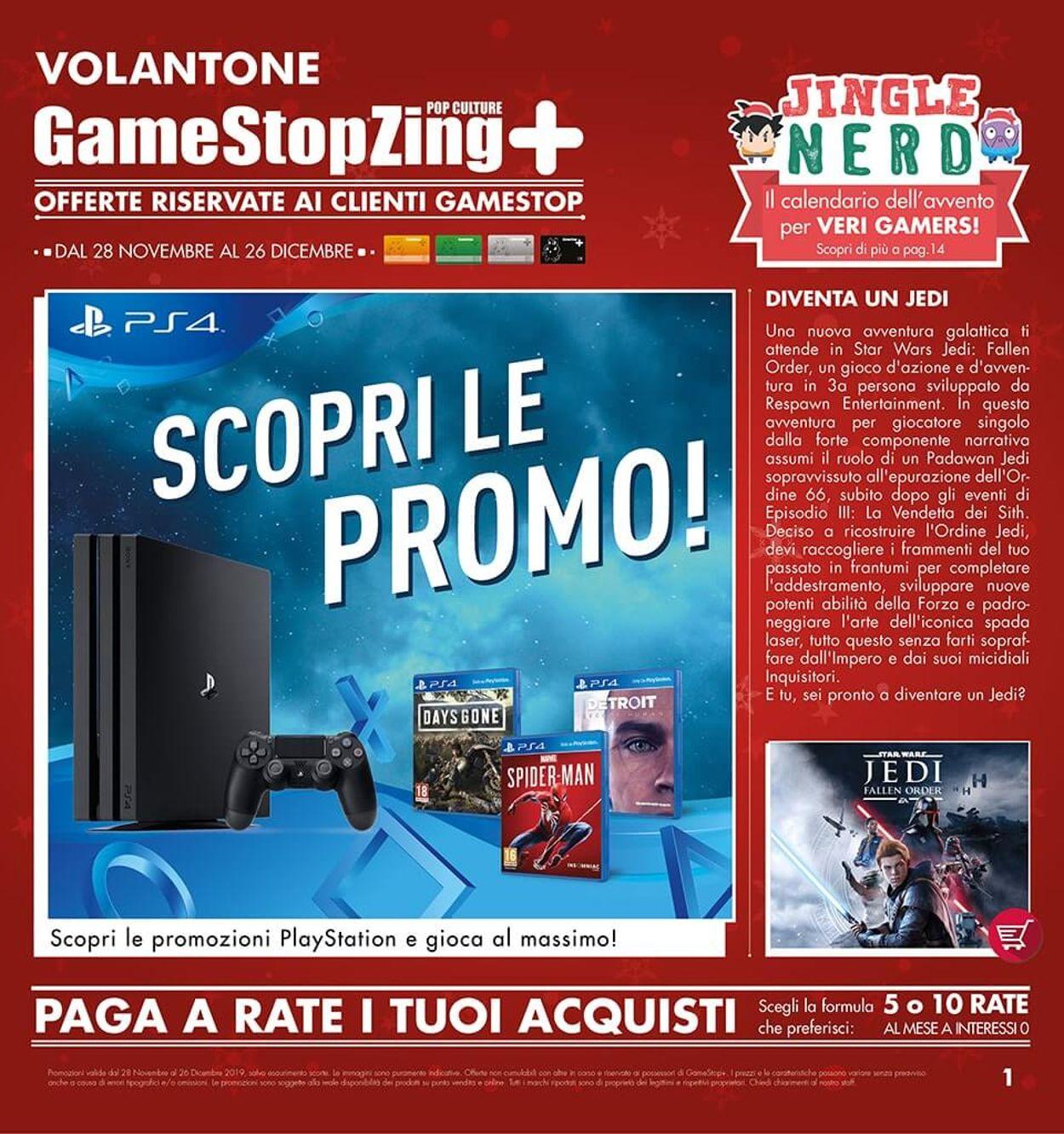 Volantino Il volantino natalizio di Gamestop - Offerte 28/11-26/12/2019