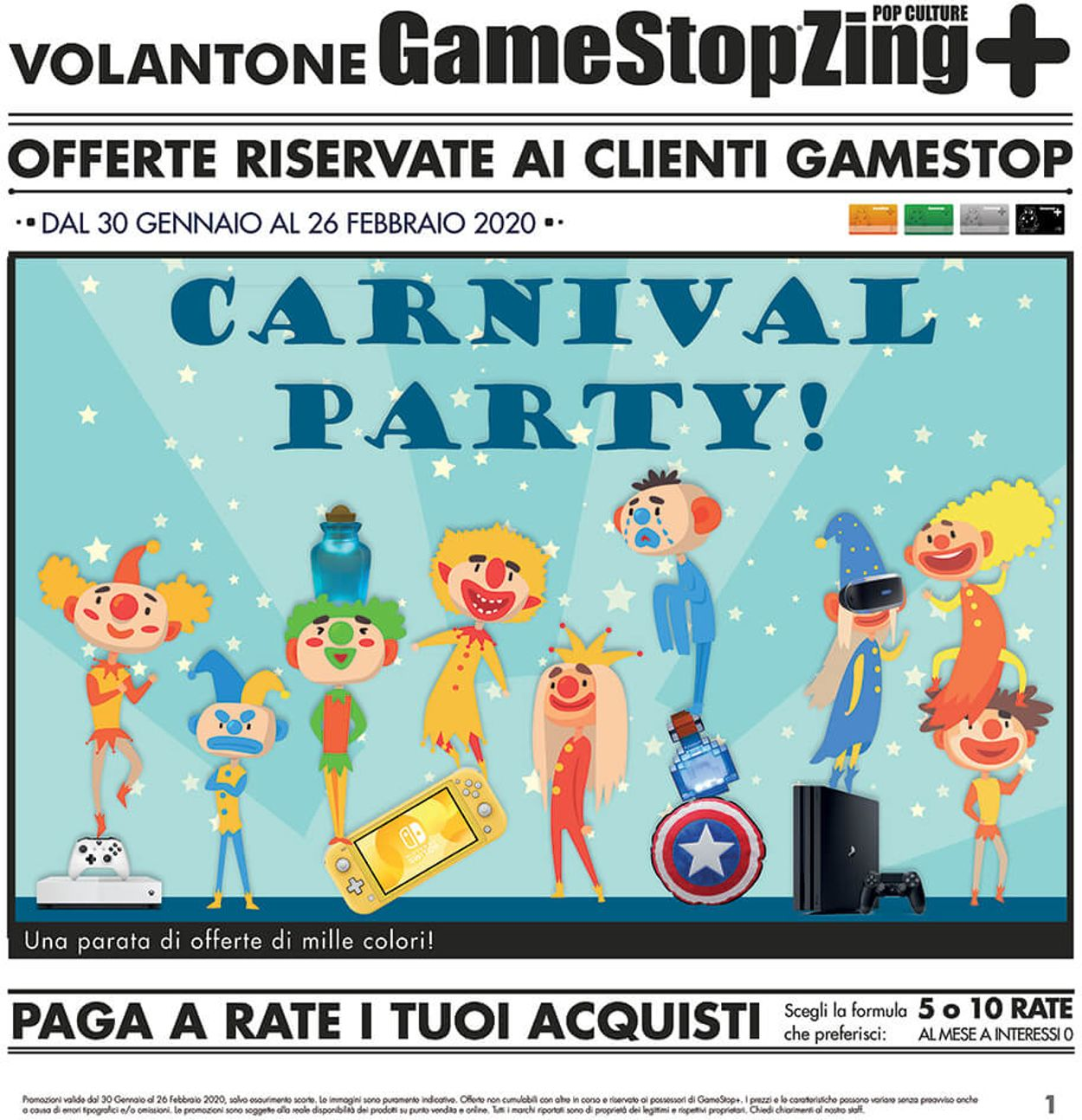 Volantino Gamestop - Offerte 30/01-26/02/2020
