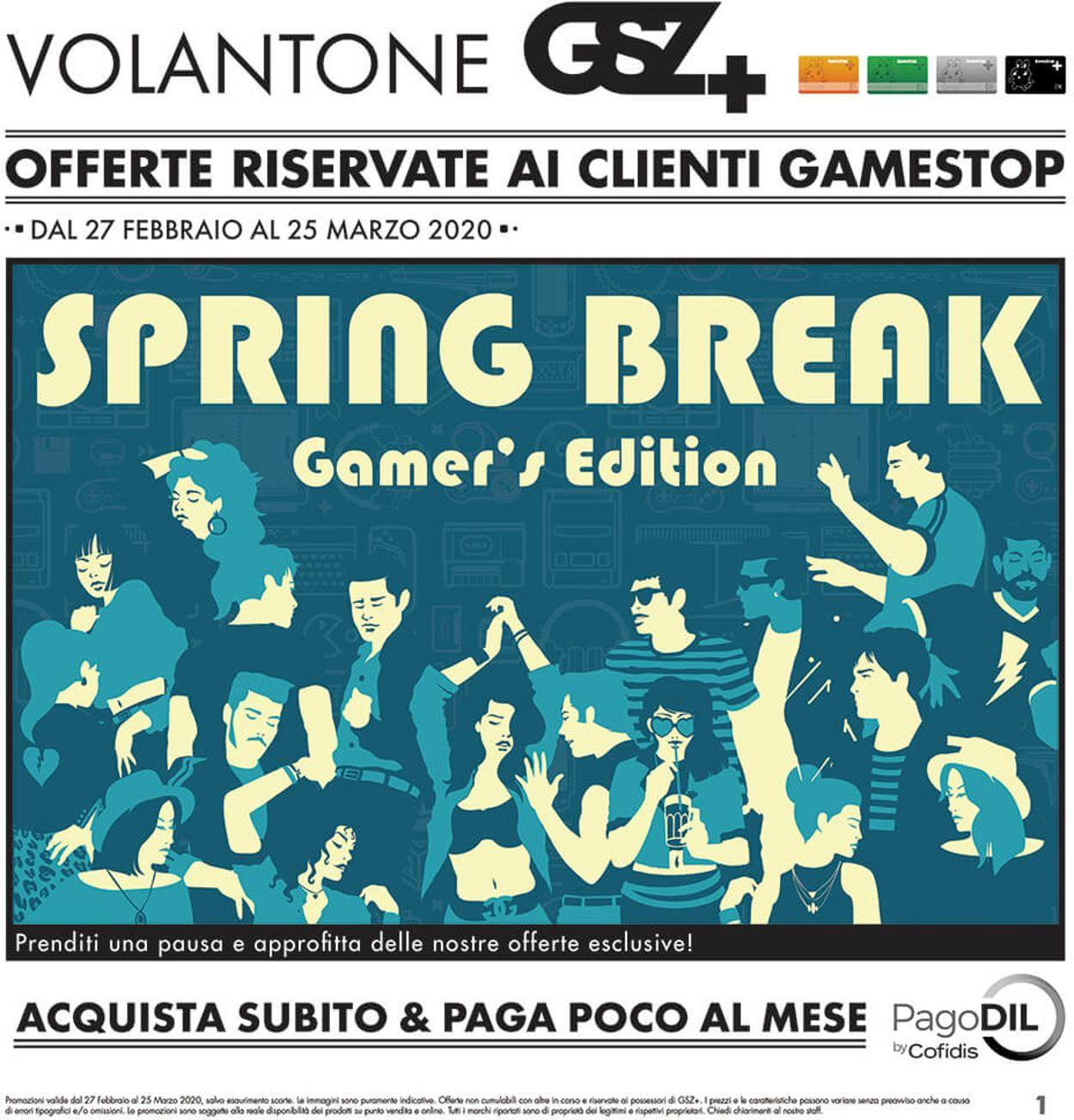 Volantino Gamestop - Offerte 27/02-25/03/2020