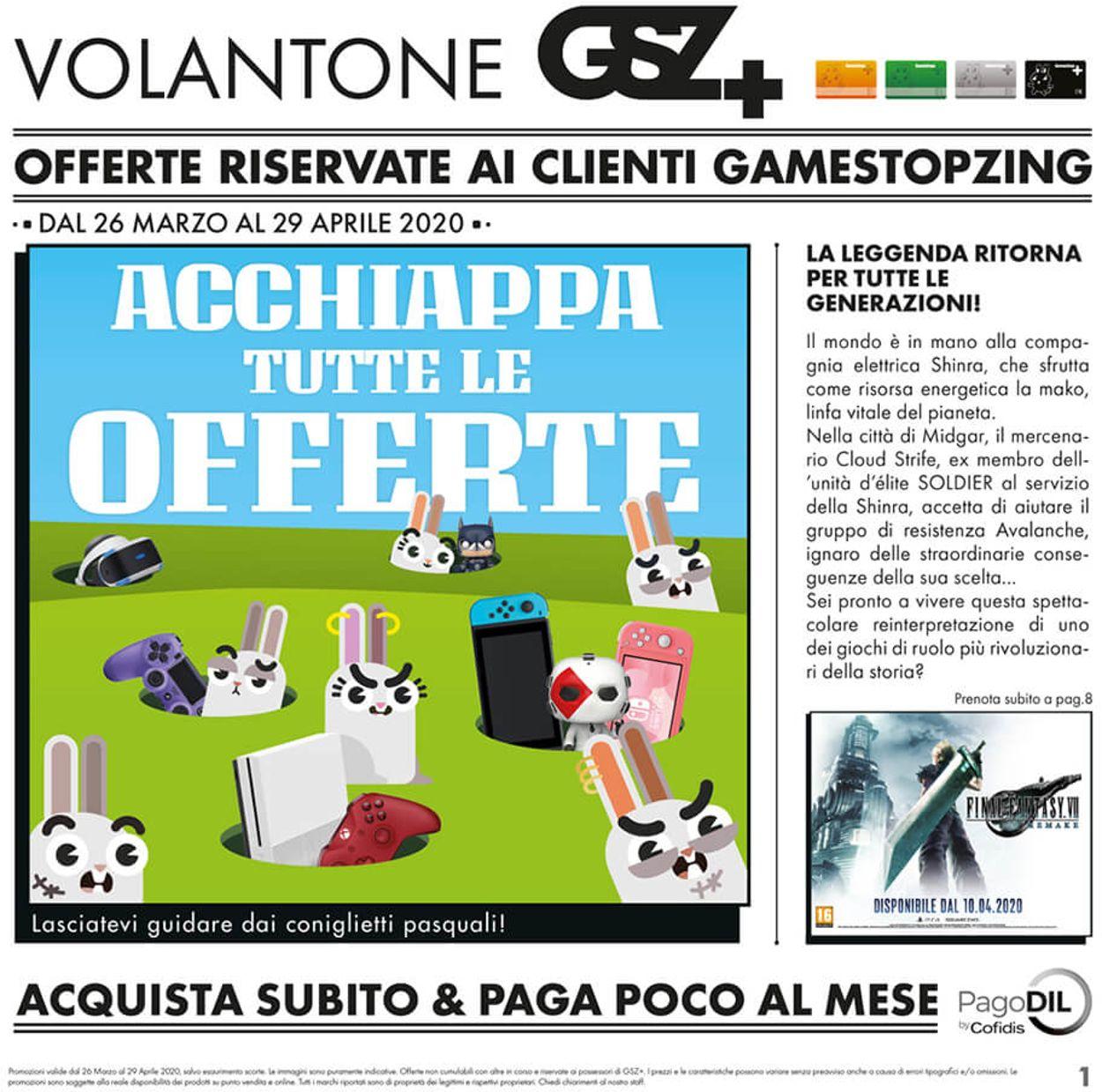 Volantino Gamestop - Offerte 26/03-29/04/2020