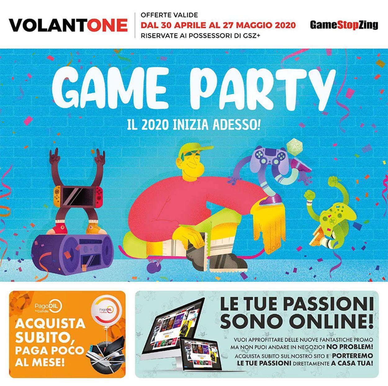 Volantino Gamestop - Offerte 30/04-27/05/2020