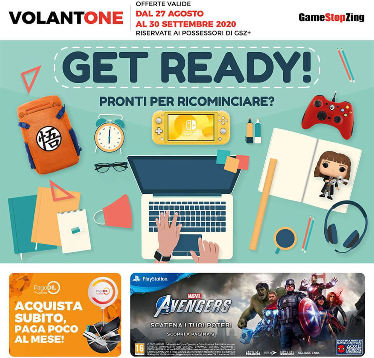 Volantino Gamestop - Offerte 27/08-30/09/2020
