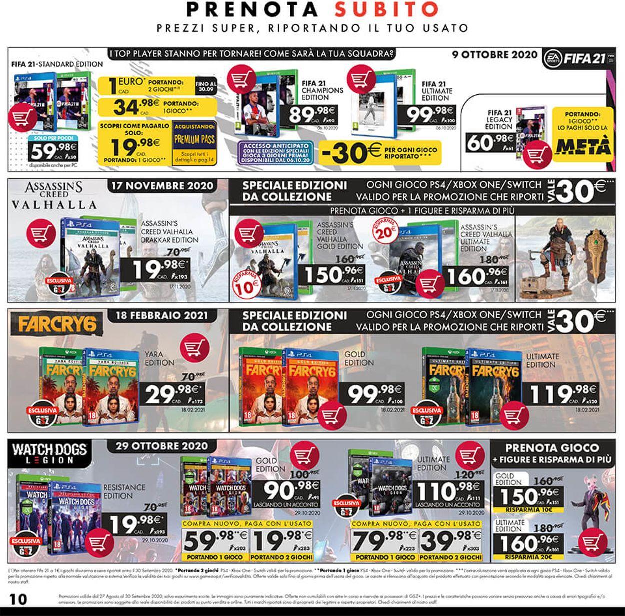 Volantino Gamestop - Offerte 27/08-30/09/2020 (Pagina 10)