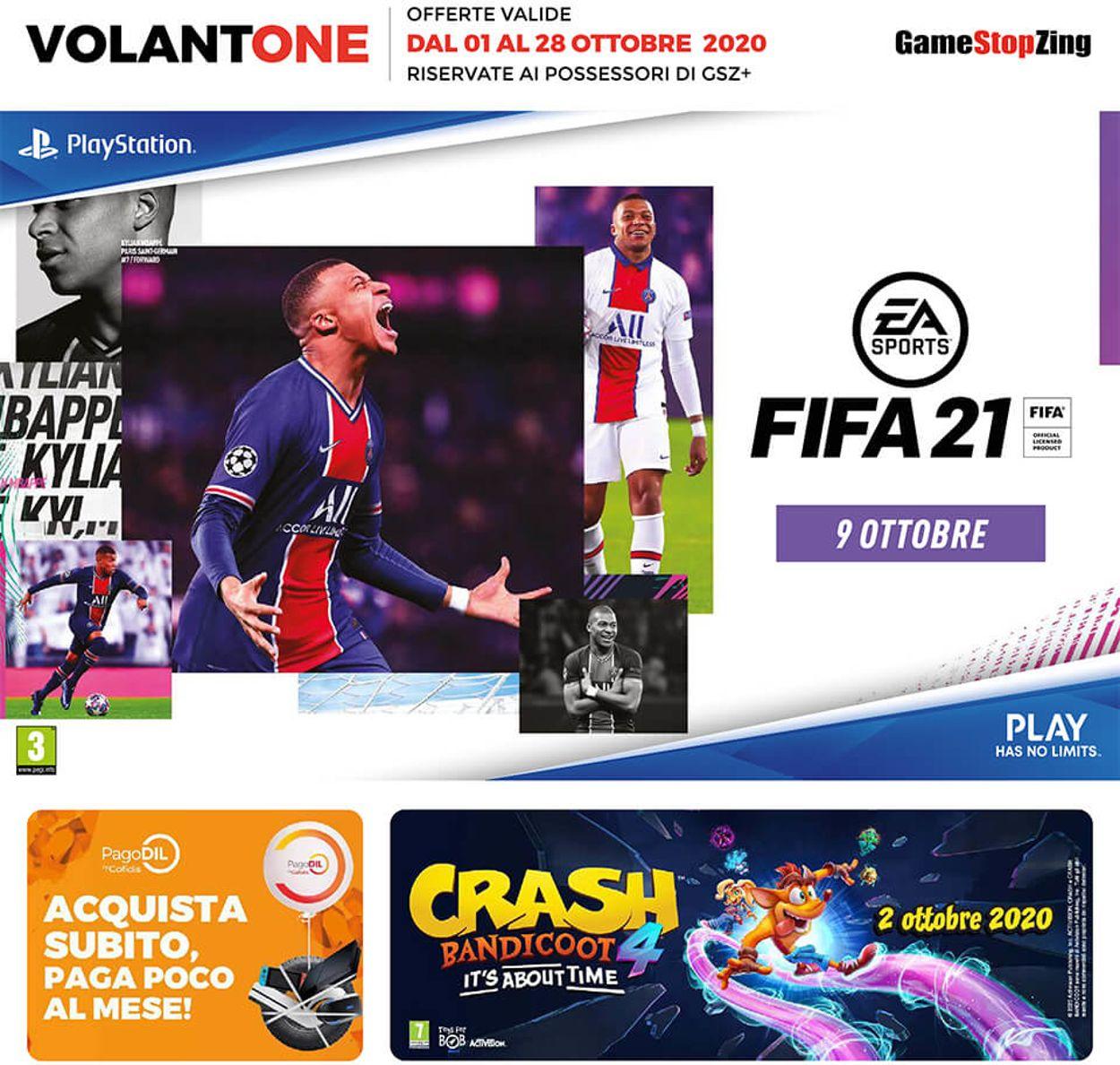 Volantino Gamestop - Offerte 01/10-28/10/2020