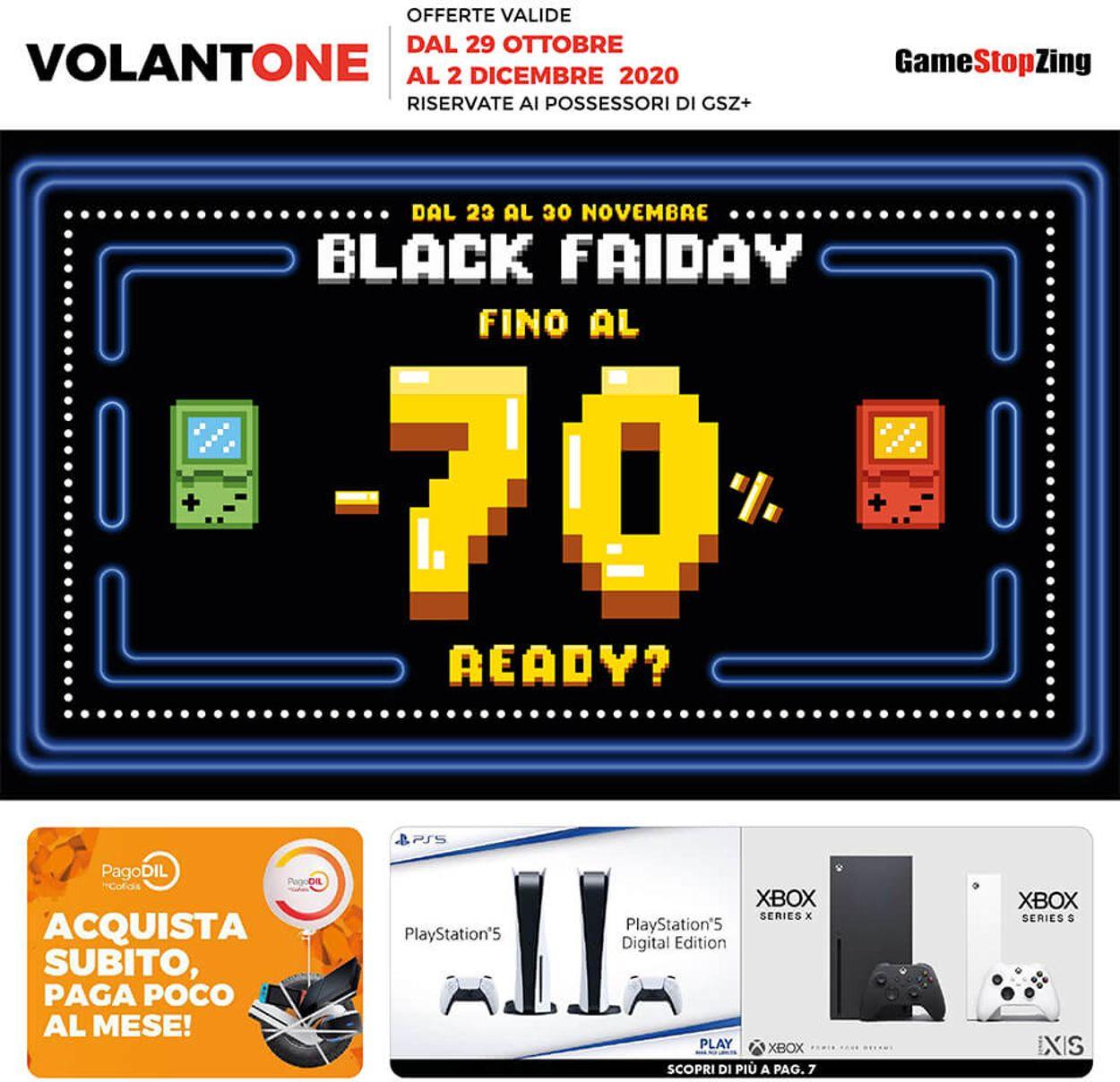 Volantino Gamestop - Black Friday 2020 - Offerte 29/10-02/12/2020