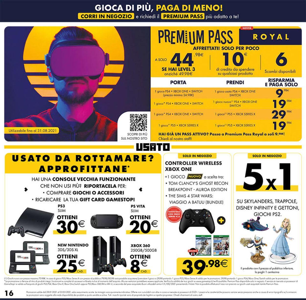 Volantino Gamestop - Offerte 28/01-03/03/2021 (Pagina 16)