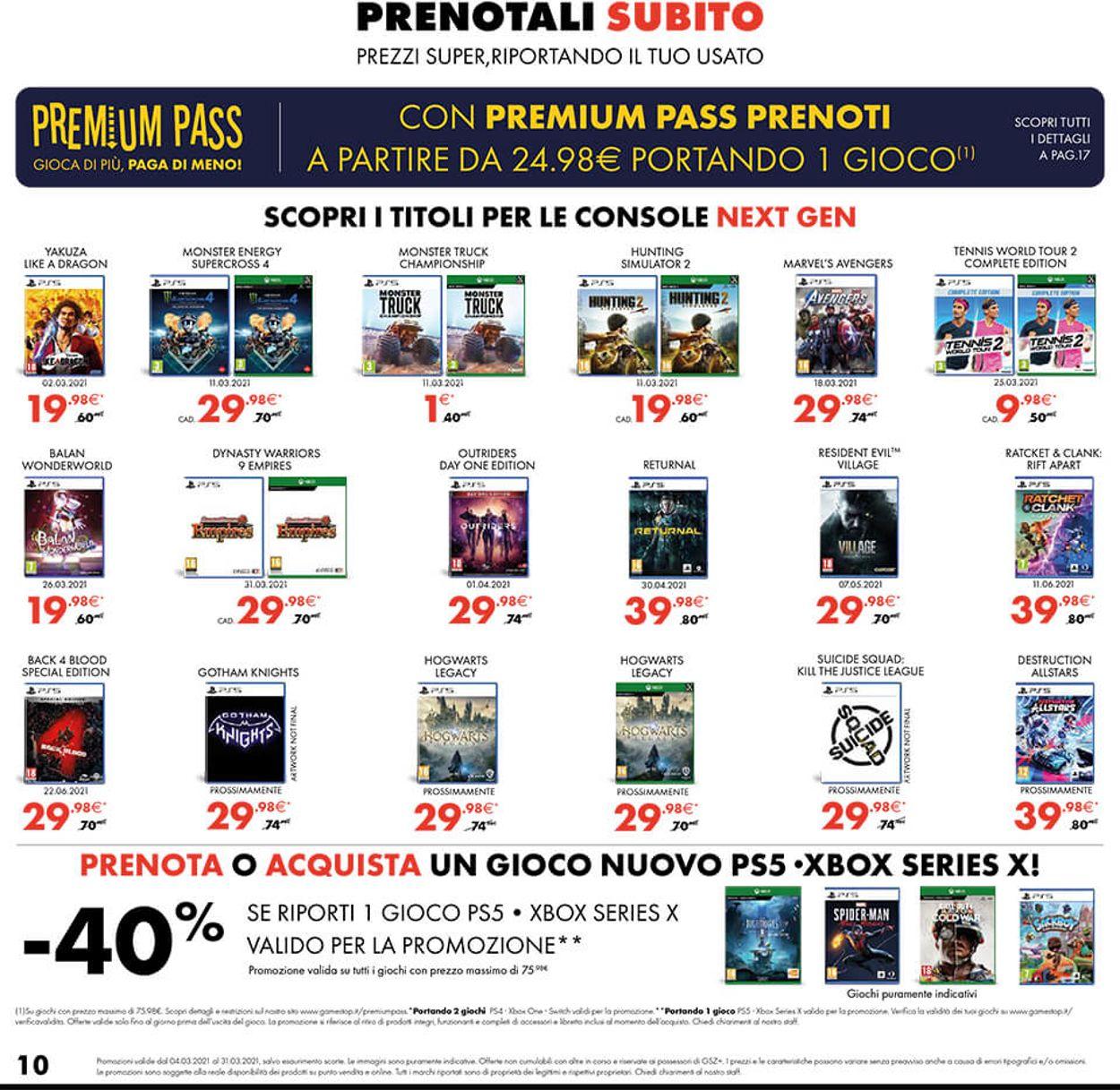 Volantino Gamestop - Offerte 04/03-31/03/2021 (Pagina 10)