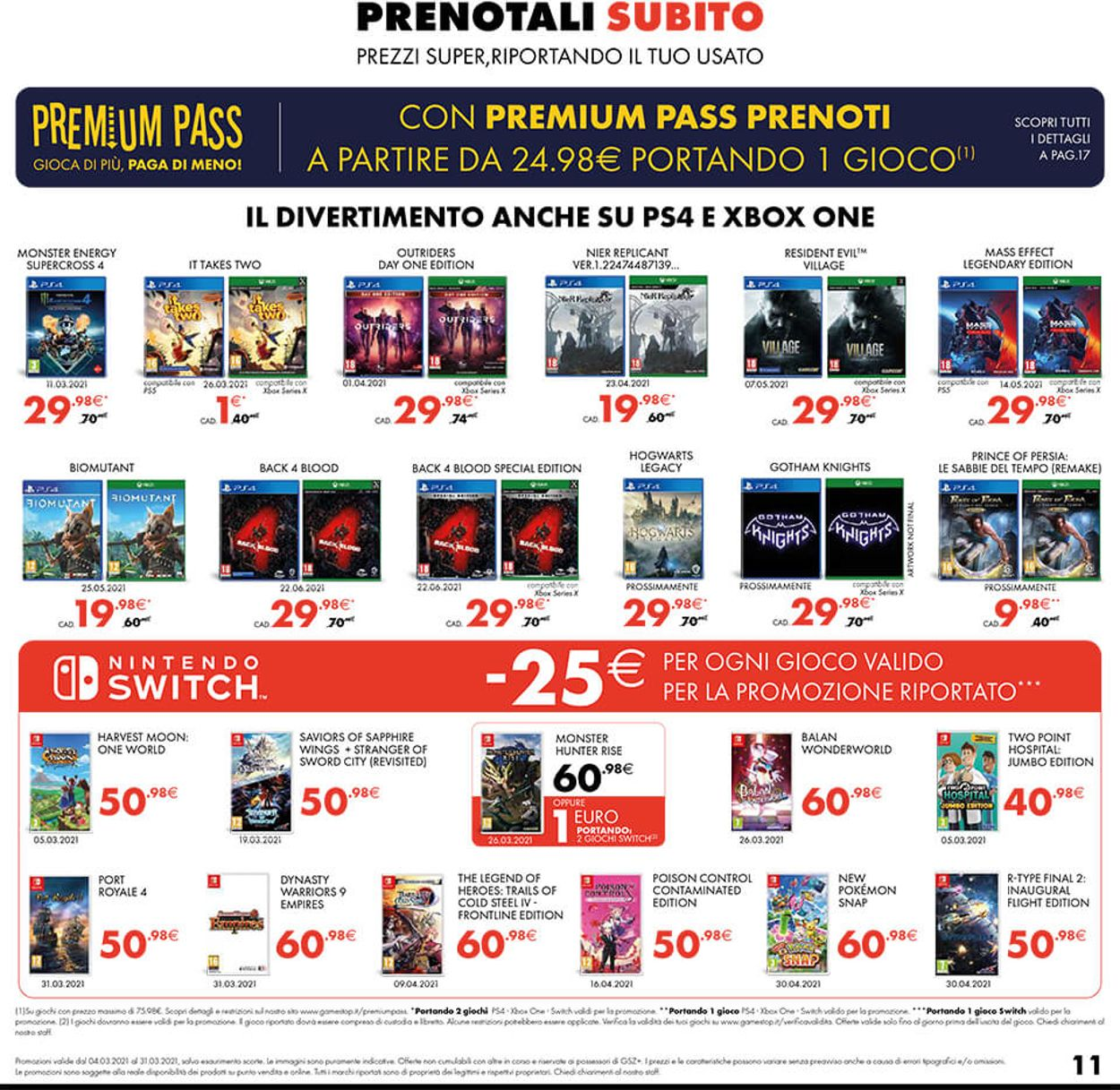 Volantino Gamestop - Offerte 04/03-31/03/2021 (Pagina 11)
