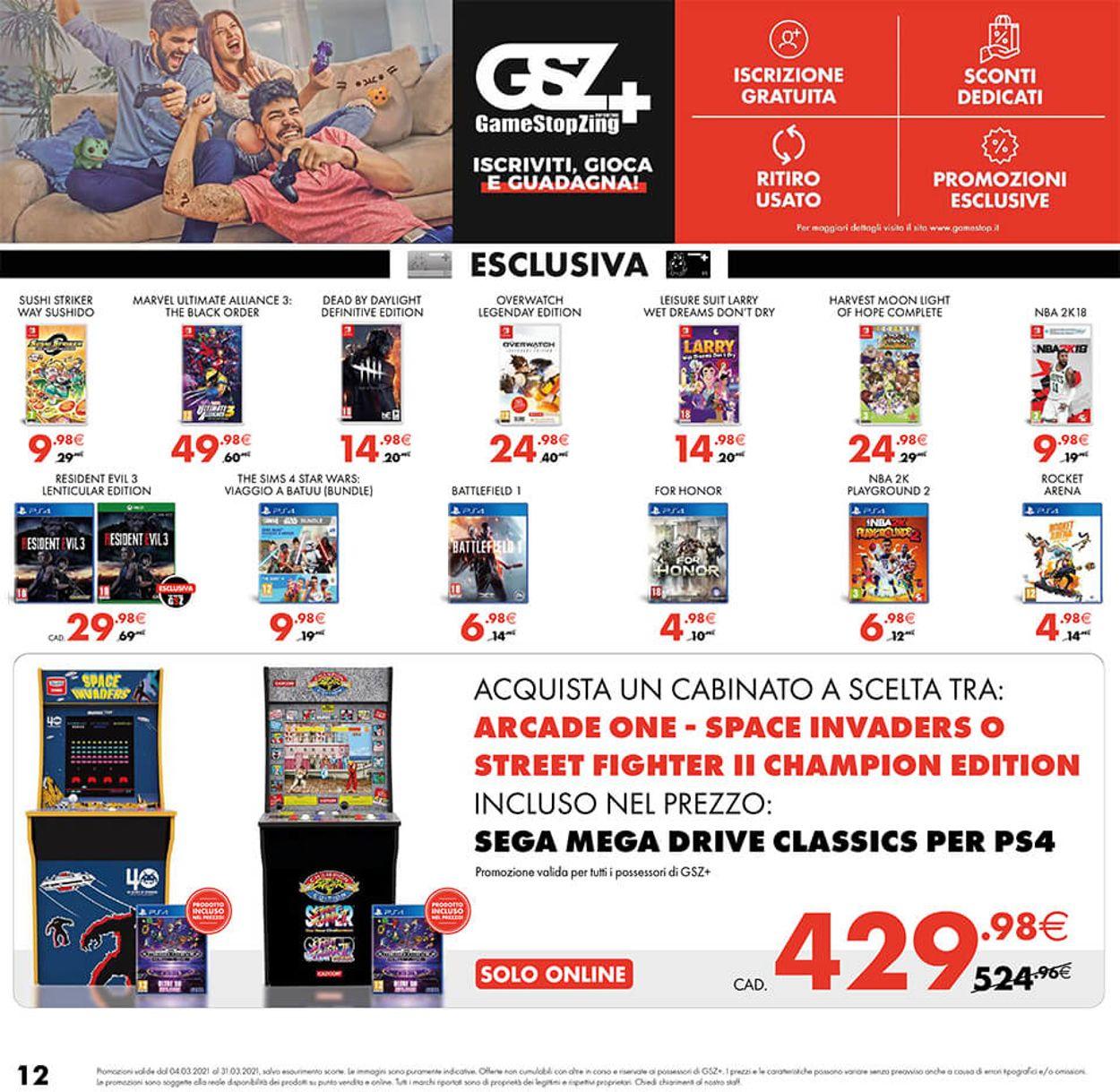 Volantino Gamestop - Offerte 04/03-31/03/2021 (Pagina 12)