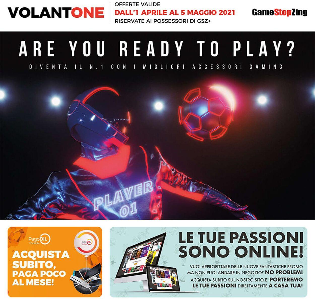 Volantino Gamestop - Offerte 01/04-05/05/2021