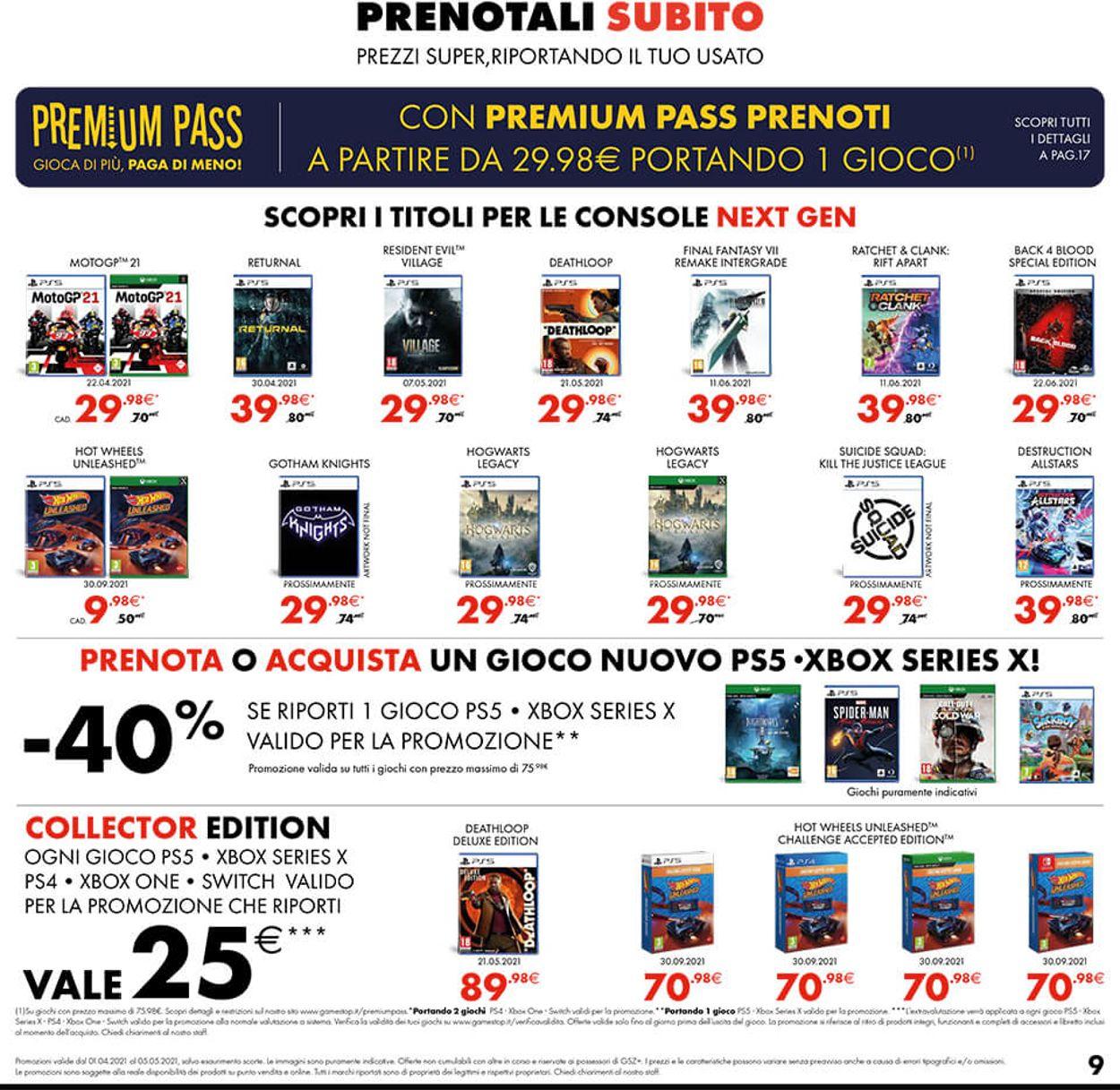 Volantino Gamestop - Offerte 01/04-05/05/2021 (Pagina 9)
