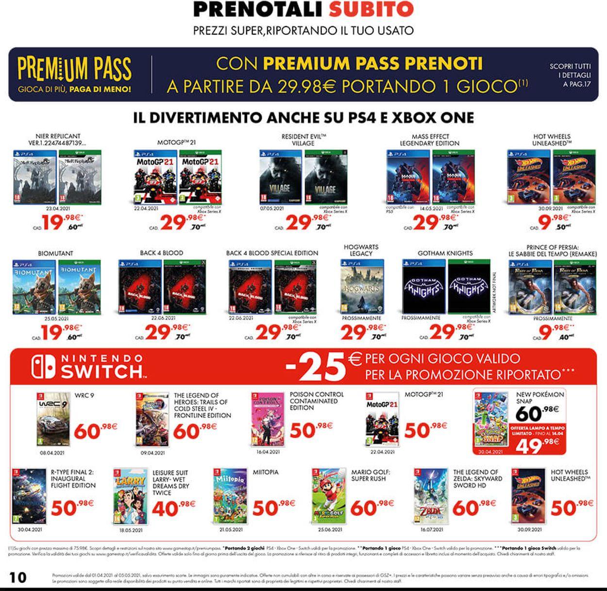 Volantino Gamestop - Offerte 01/04-05/05/2021 (Pagina 10)