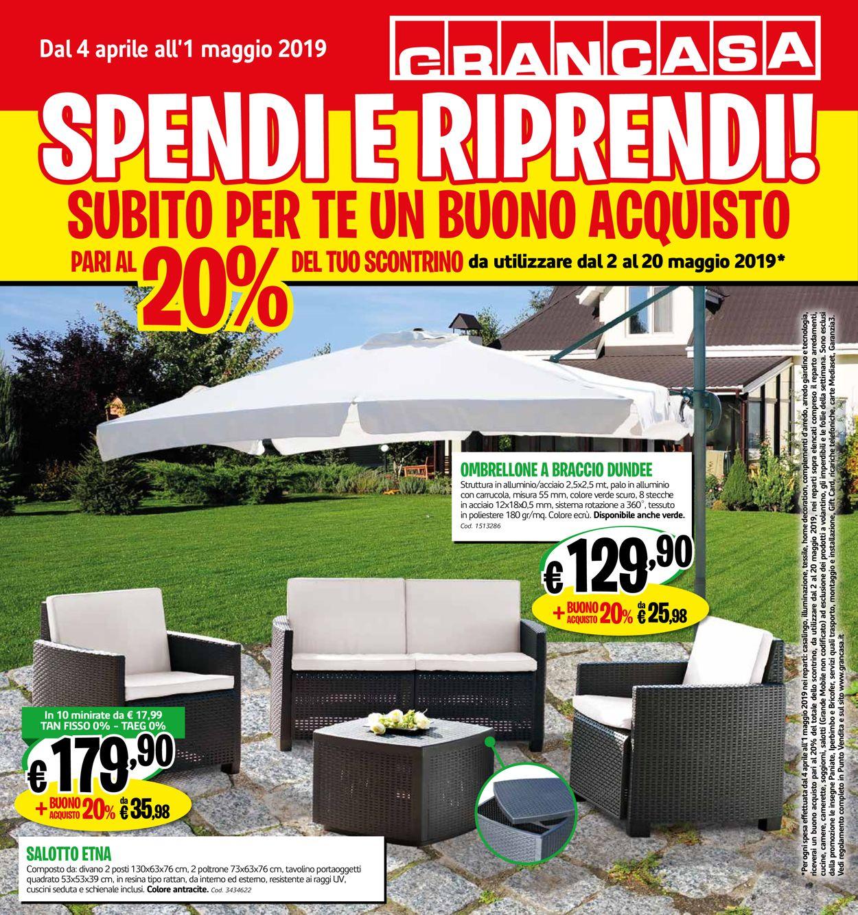 Volantino Grancasa - Offerte 04/04-01/05/2019