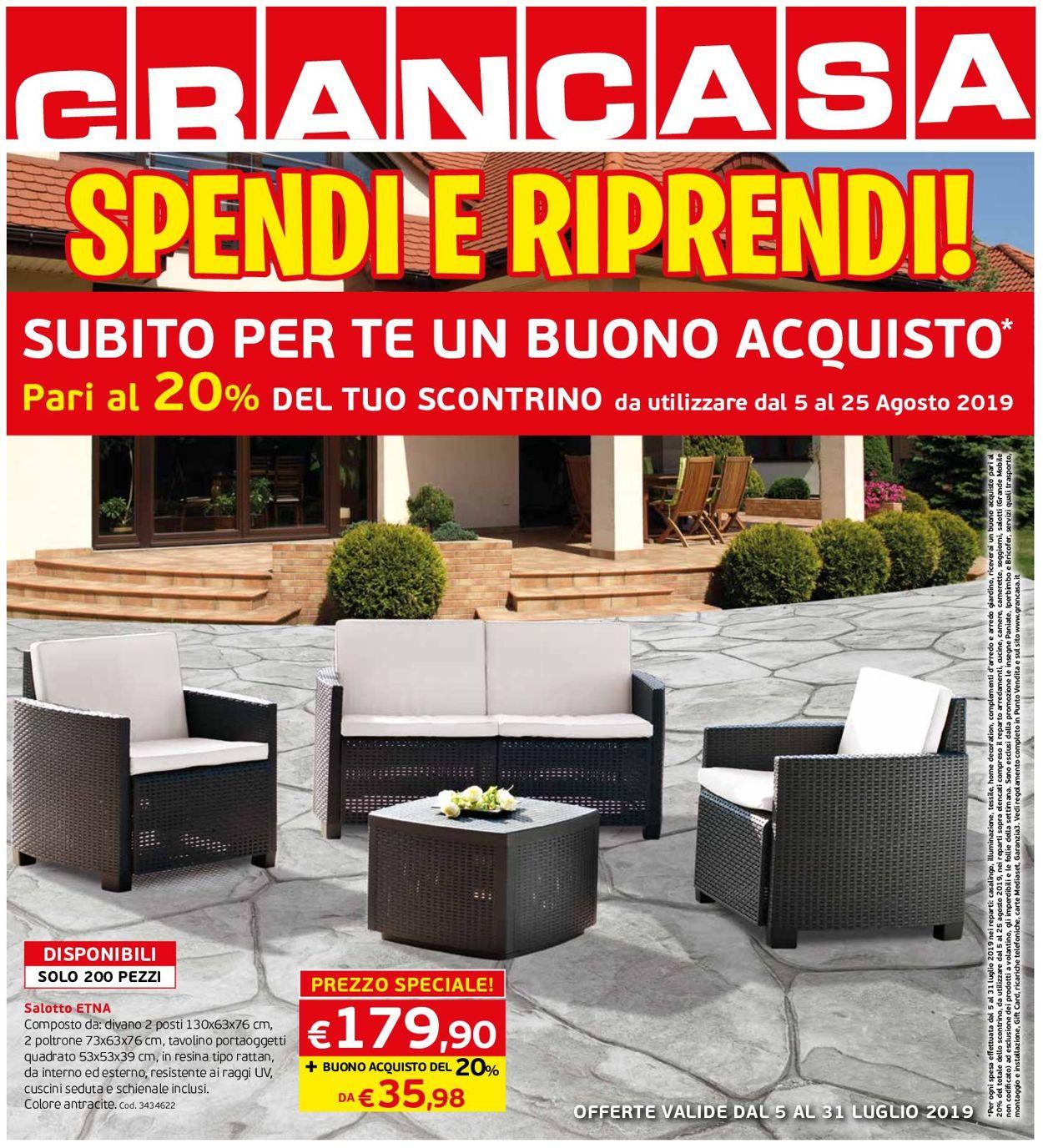 Volantino Grancasa - Offerte 05/07-31/07/2019