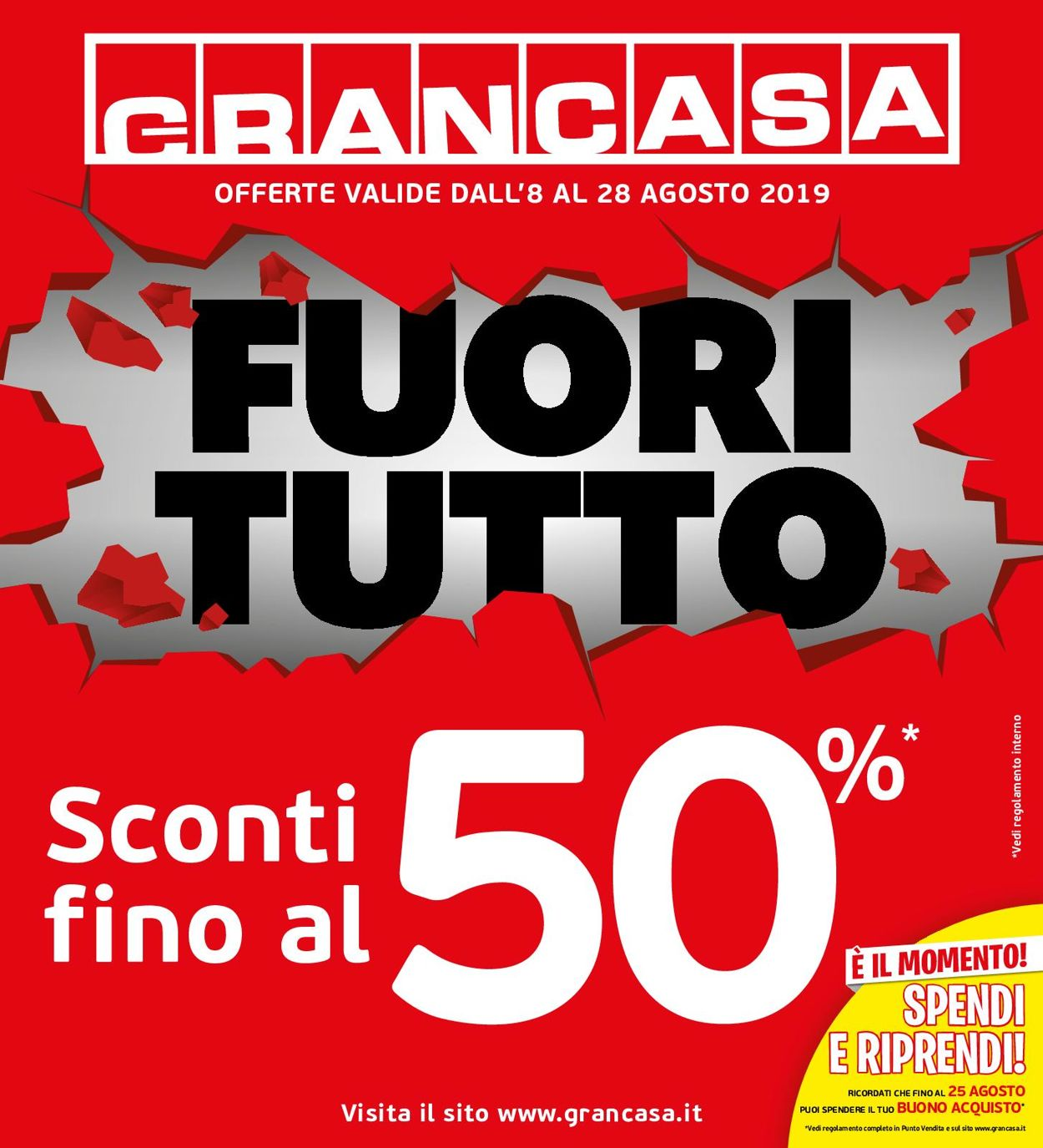 Volantino Grancasa - Offerte 08/08-28/08/2019
