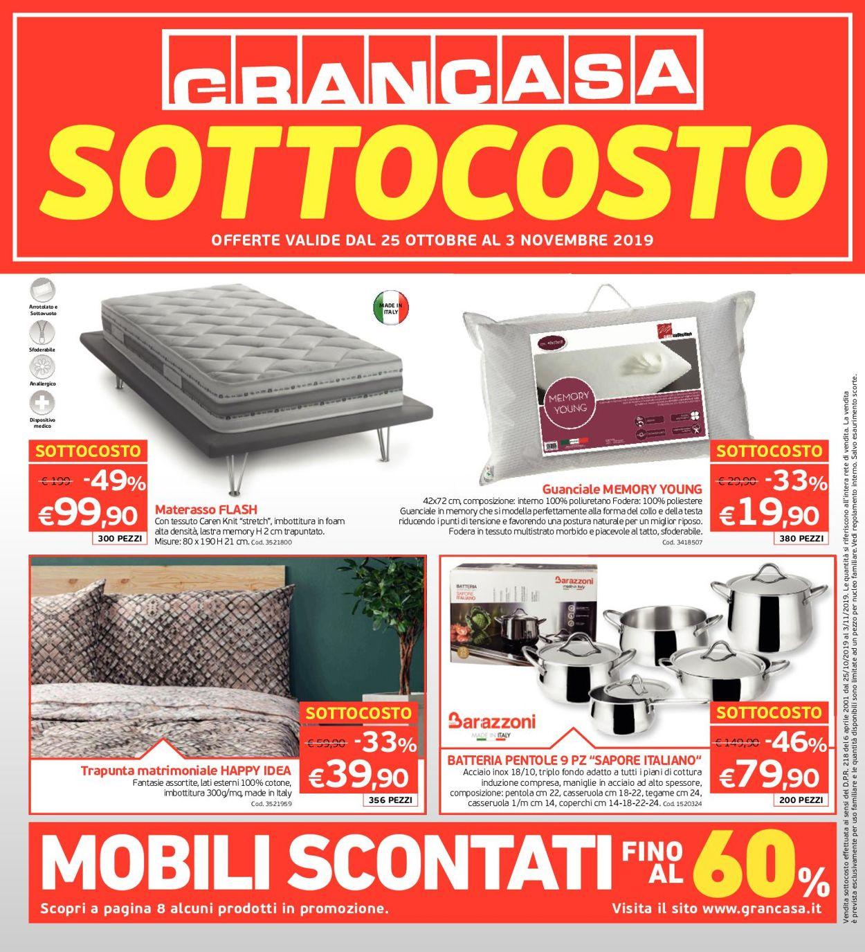 Volantino Grancasa - Offerte 25/10-03/11/2019