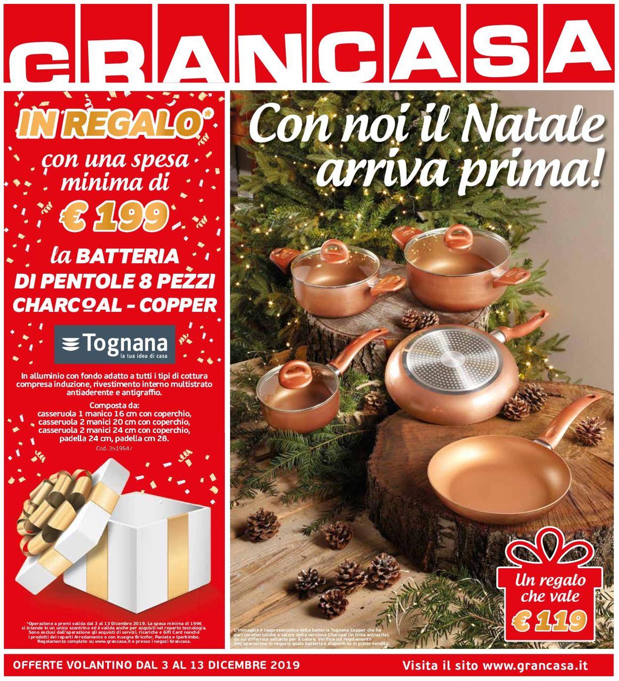 Volantino Il volantino natalizio di Grancasa - Offerte 03/12-13/12/2019