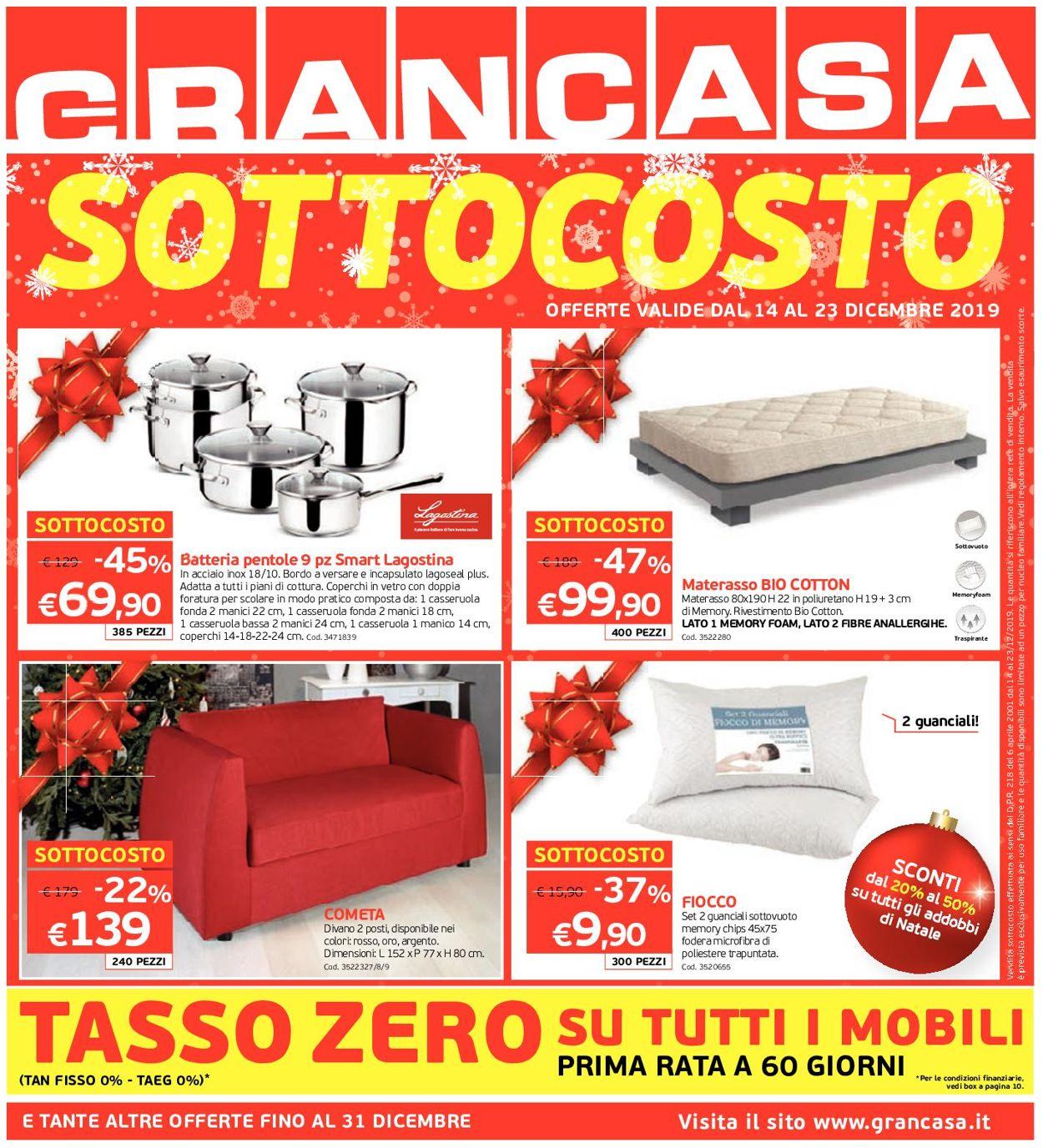 Volantino Il volantino natalizio di Grancasa - Offerte 14/12-31/12/2019