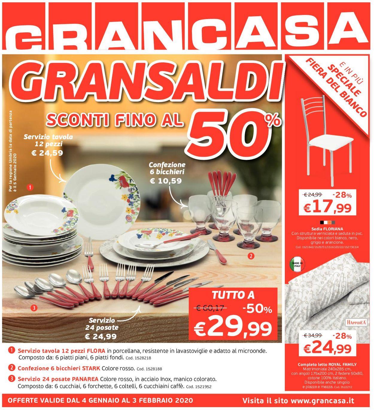 Volantino Grancasa - Offerte 04/01-03/02/2020