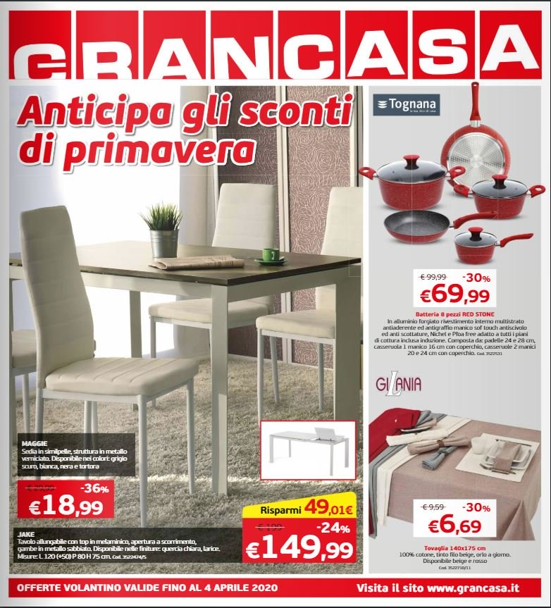 Volantino Grancasa - Offerte 27/03-04/04/2020