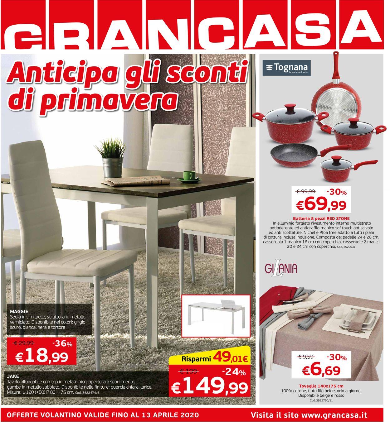 Volantino Grancasa - Offerte 06/04-13/04/2020