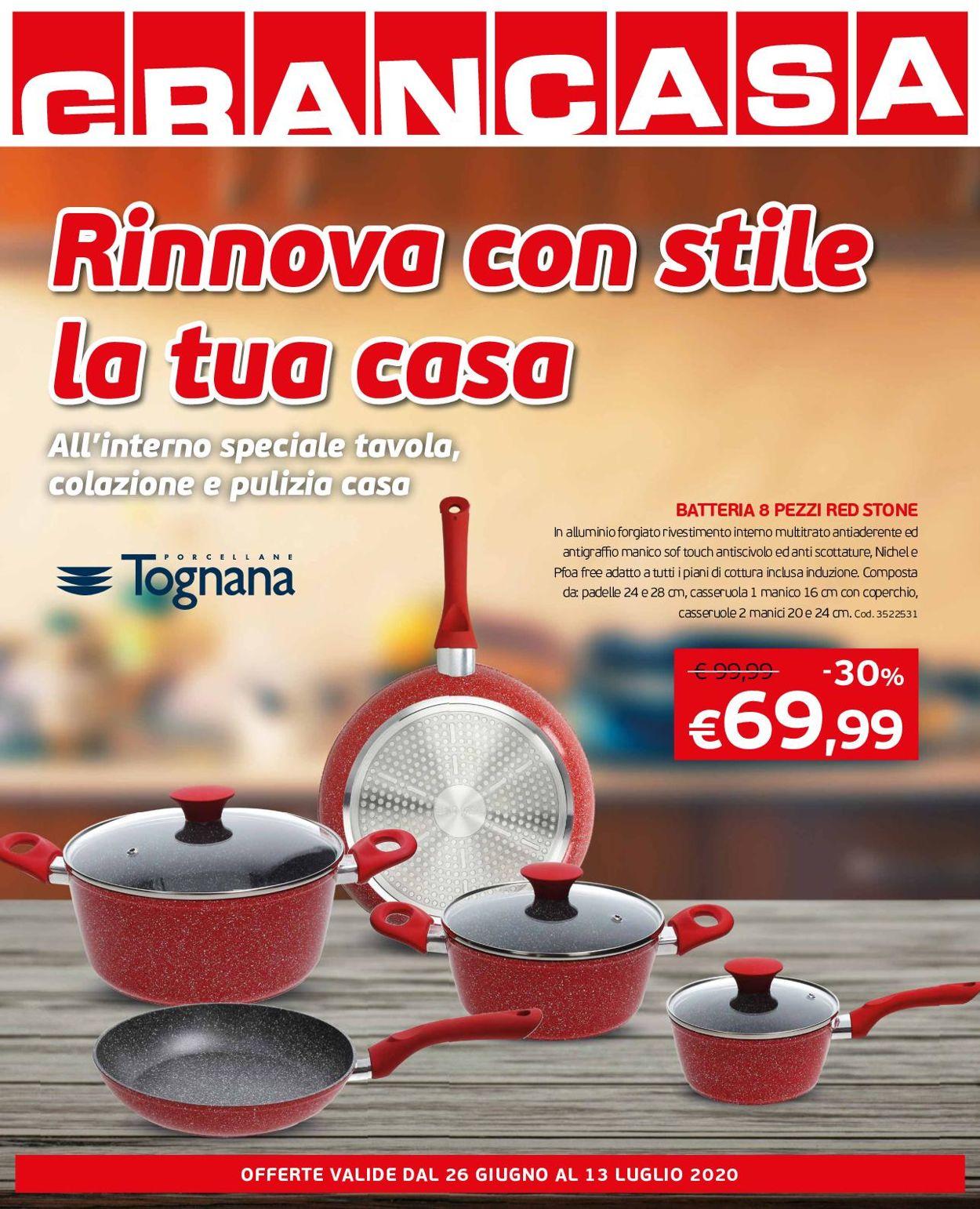 Volantino Grancasa - Offerte 26/06-13/07/2020