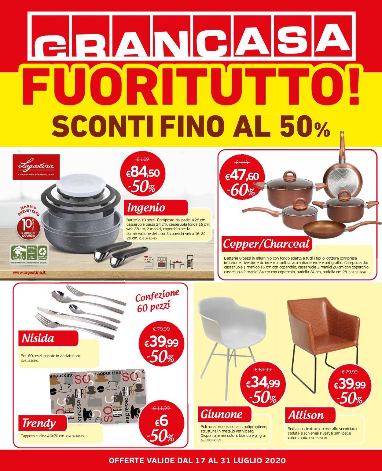 Volantino Grancasa - Offerte 17/06-31/07/2020