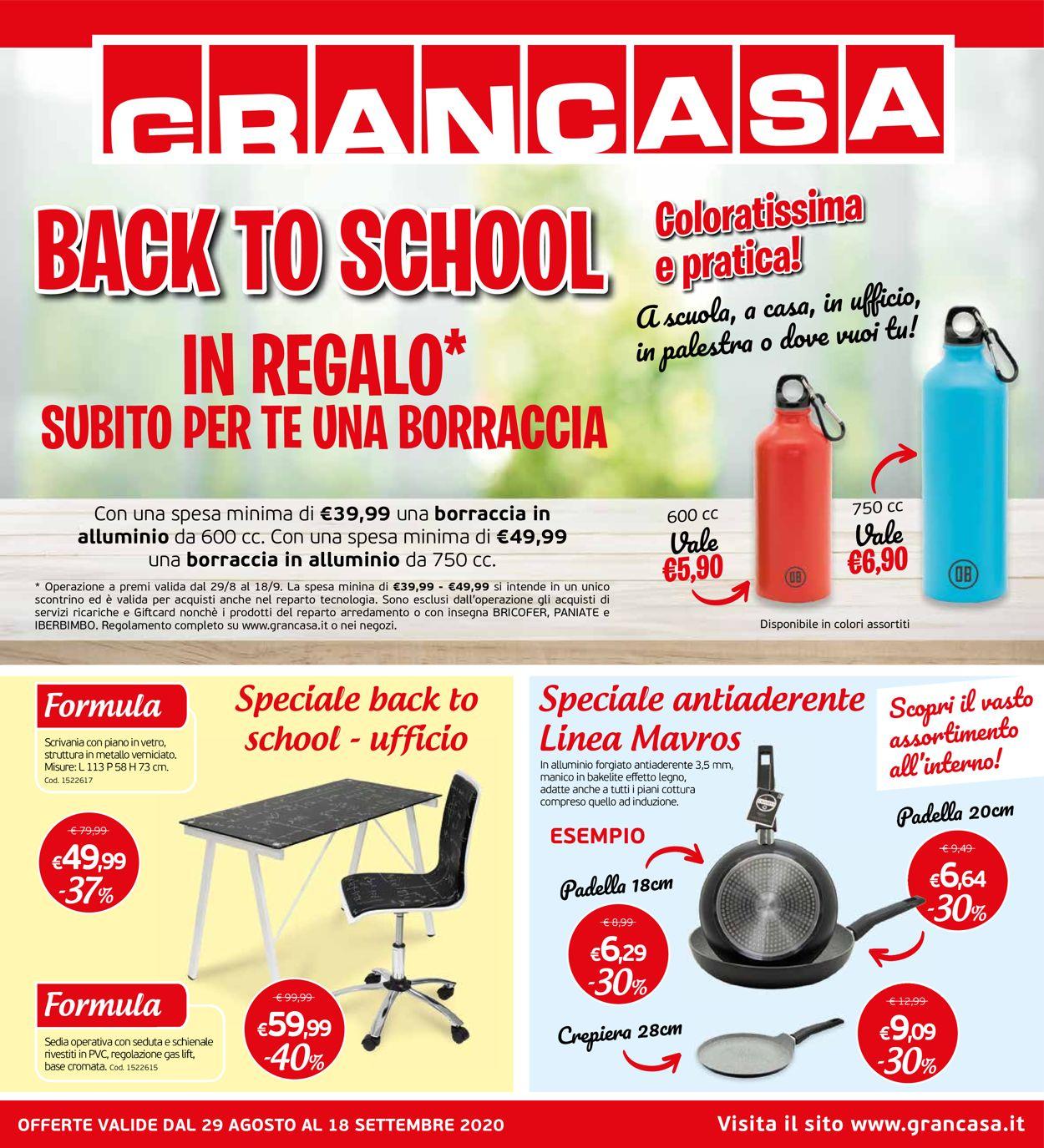 Volantino Grancasa - Offerte 29/08-18/09/2020