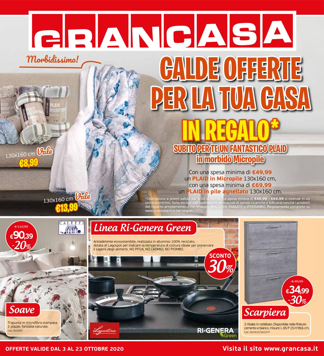 Volantino Grancasa - Offerte 03/10-23/10/2020