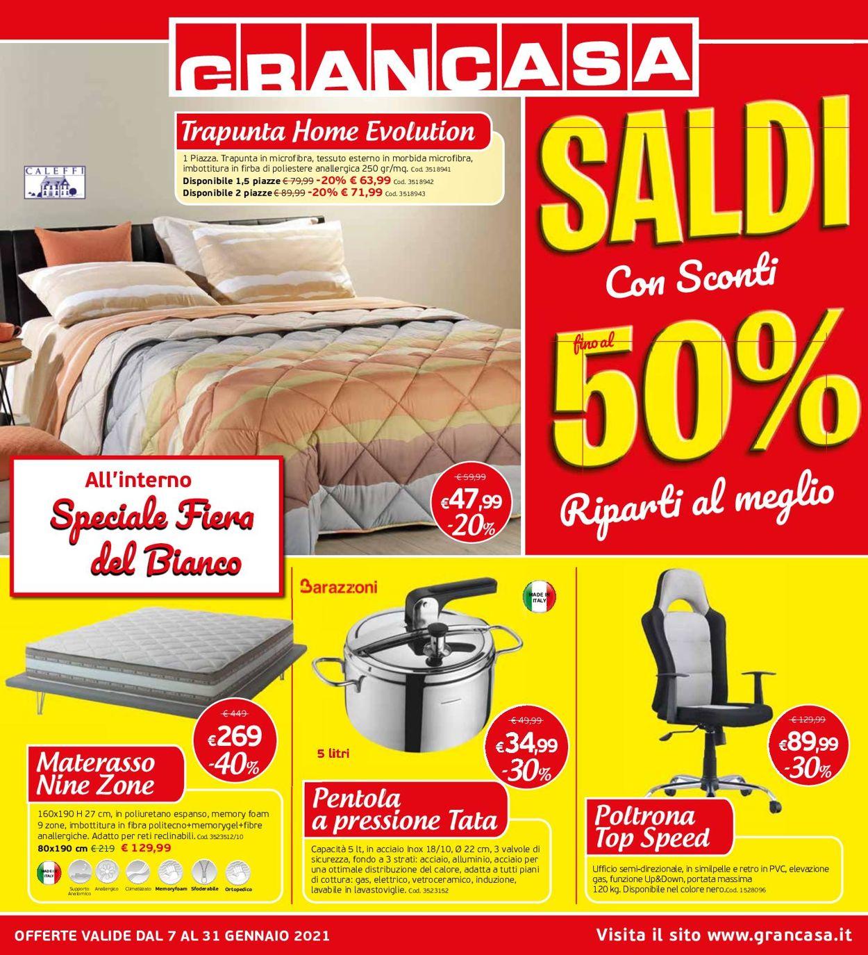 Volantino Grancasa - Offerte 07/01-08/02/2021