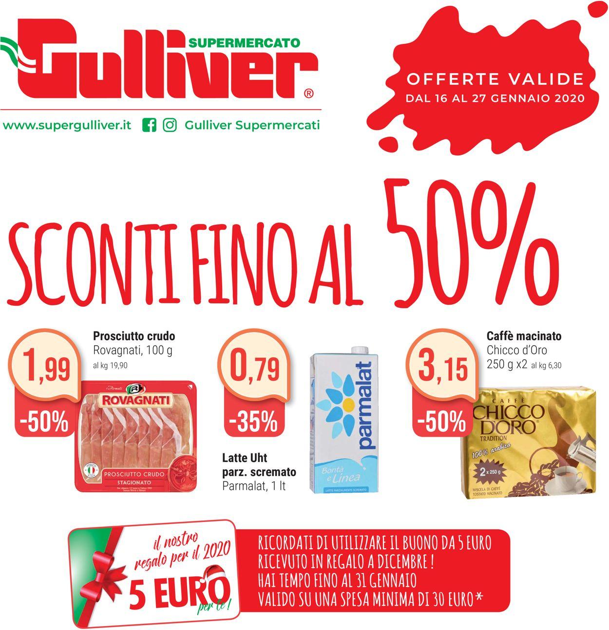 Volantino Gulliver - Offerte 16/01-27/01/2020