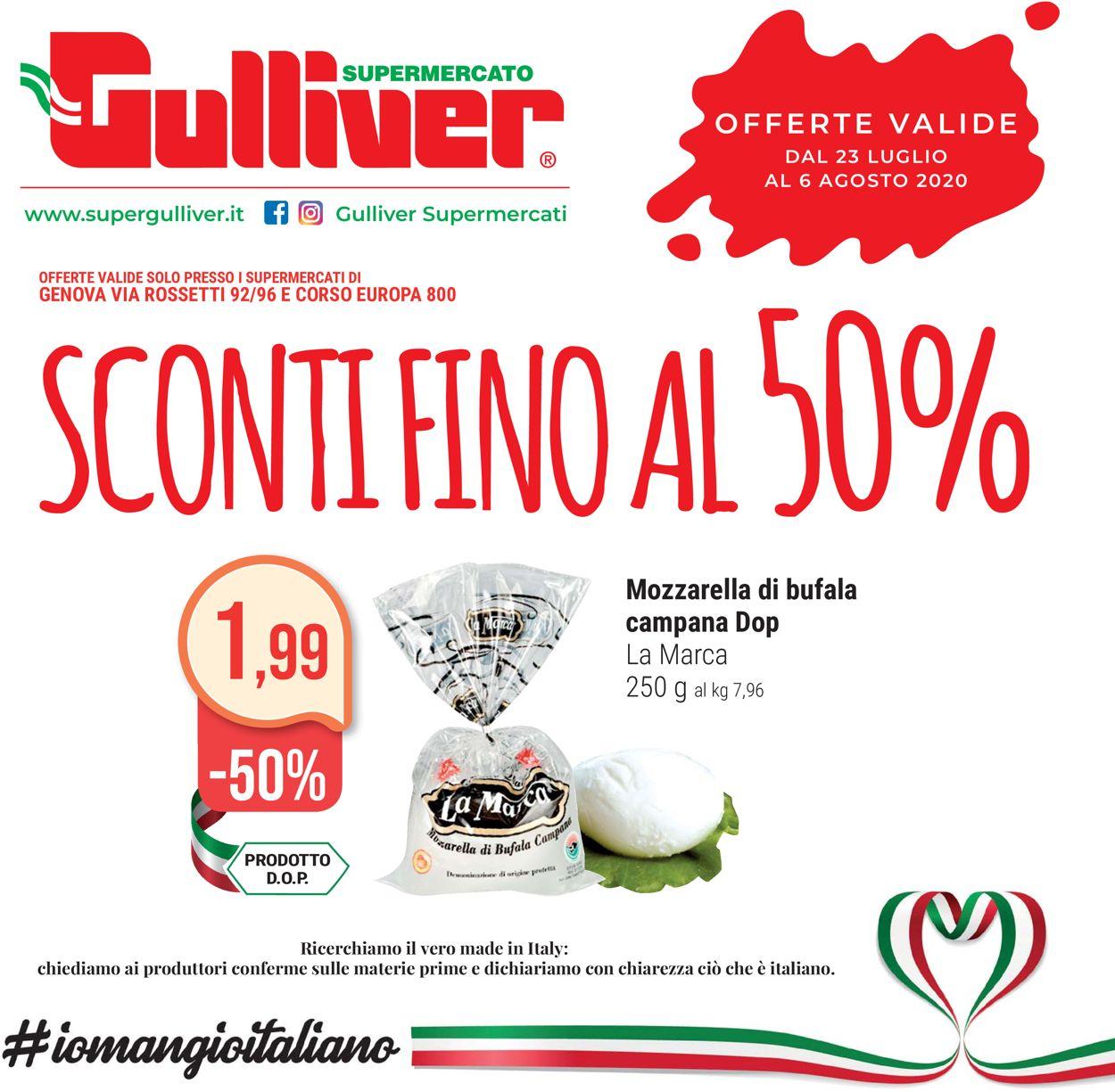 Volantino Gulliver - Offerte 23/07-06/08/2020