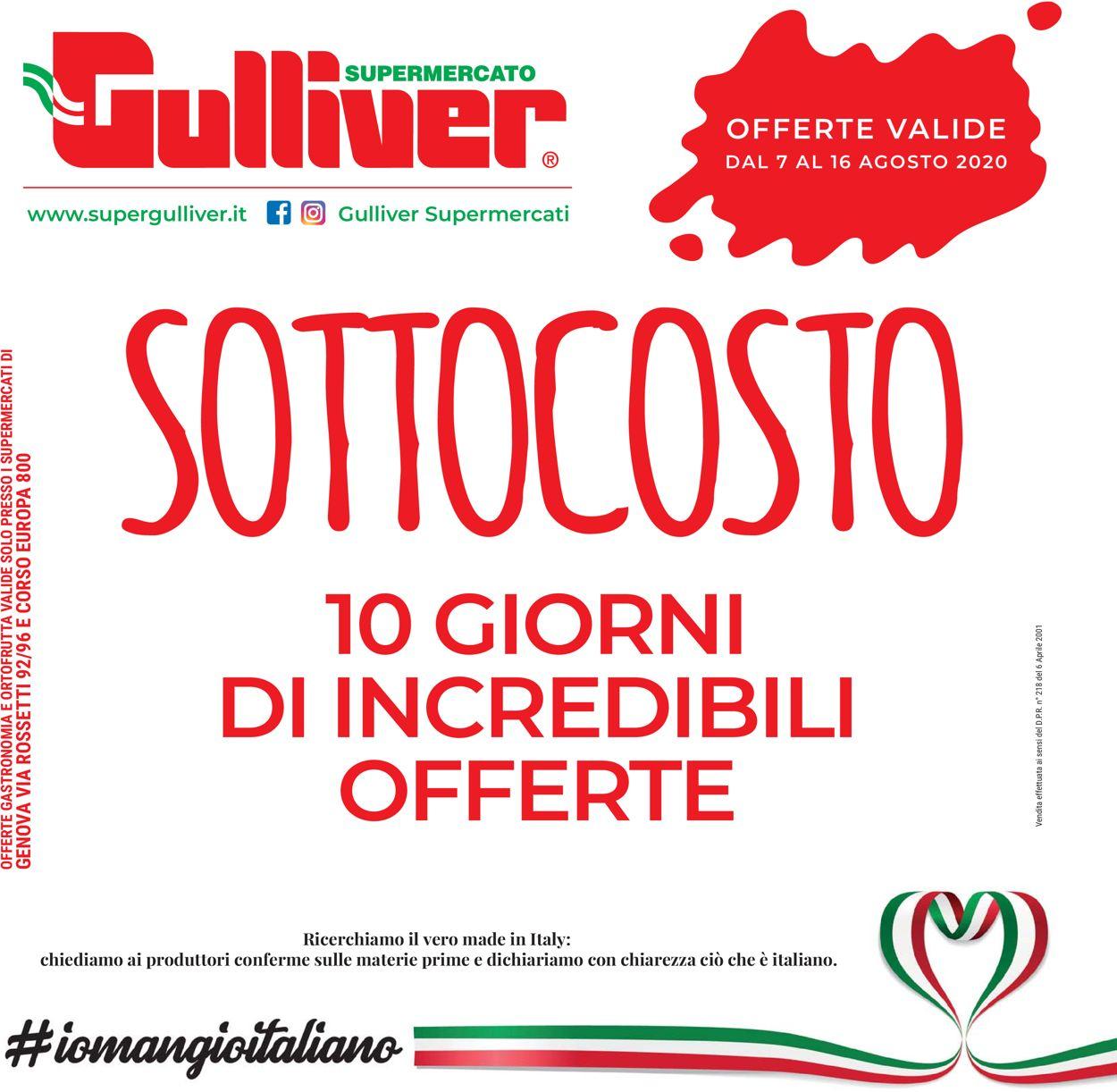 Volantino Gulliver - Offerte 07/08-16/08/2020