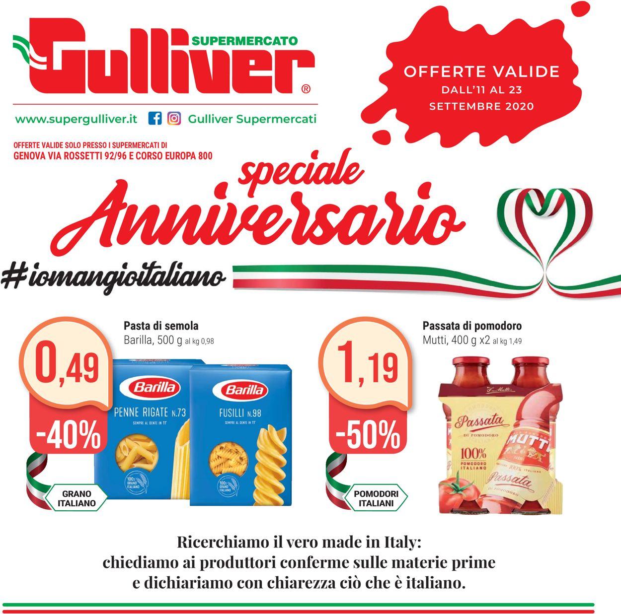 Volantino Gulliver - Offerte 11/09-23/09/2020