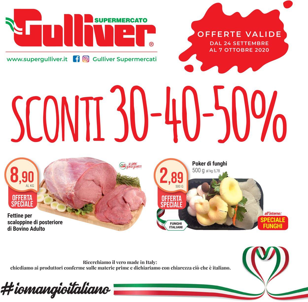 Volantino Gulliver - Offerte 24/09-07/10/2020