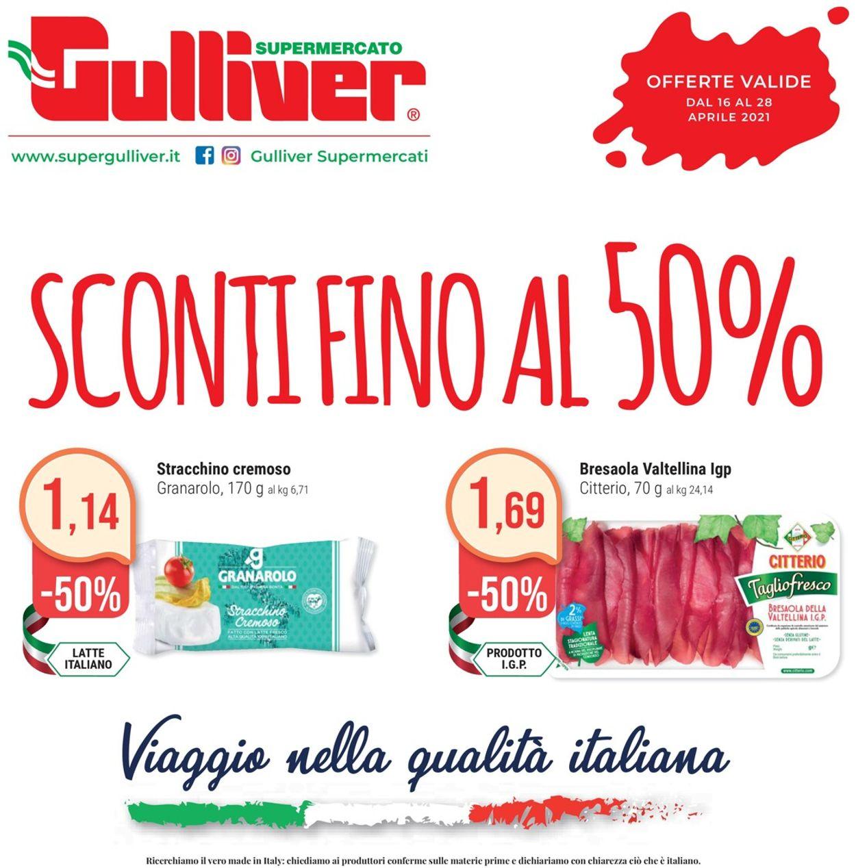 Volantino Gulliver - Offerte 16/04-28/04/2021
