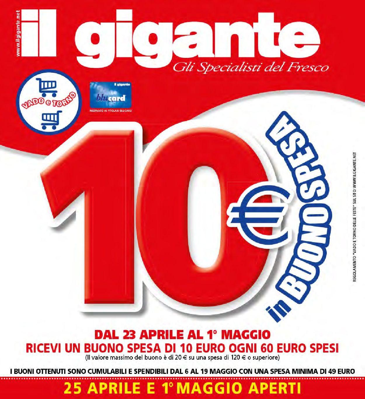 Volantino Il Gigante - Offerte 23/04-01/05/2019