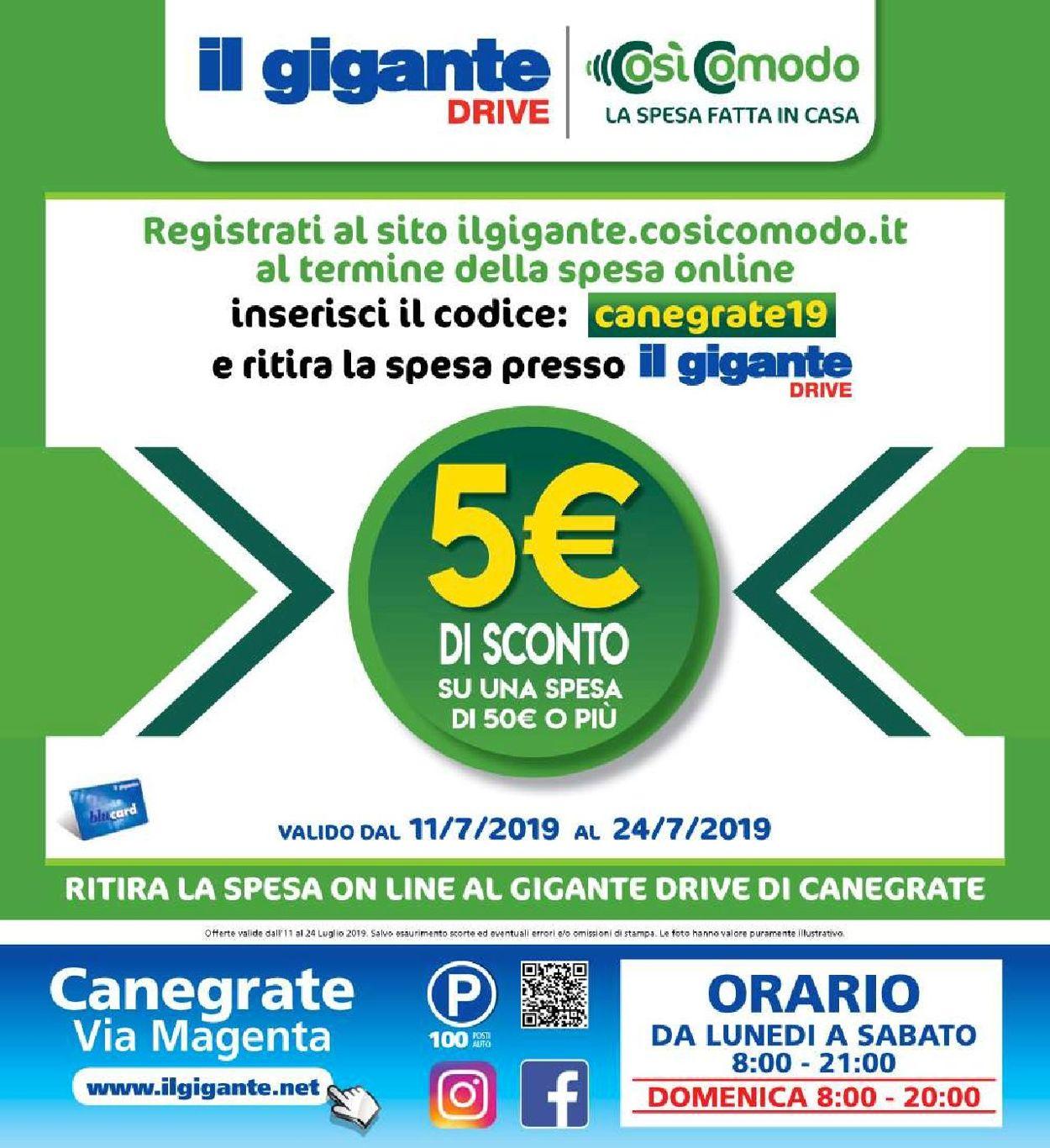Volantino Il Gigante - Offerte 11/07-24/07/2019 (Pagina 20)