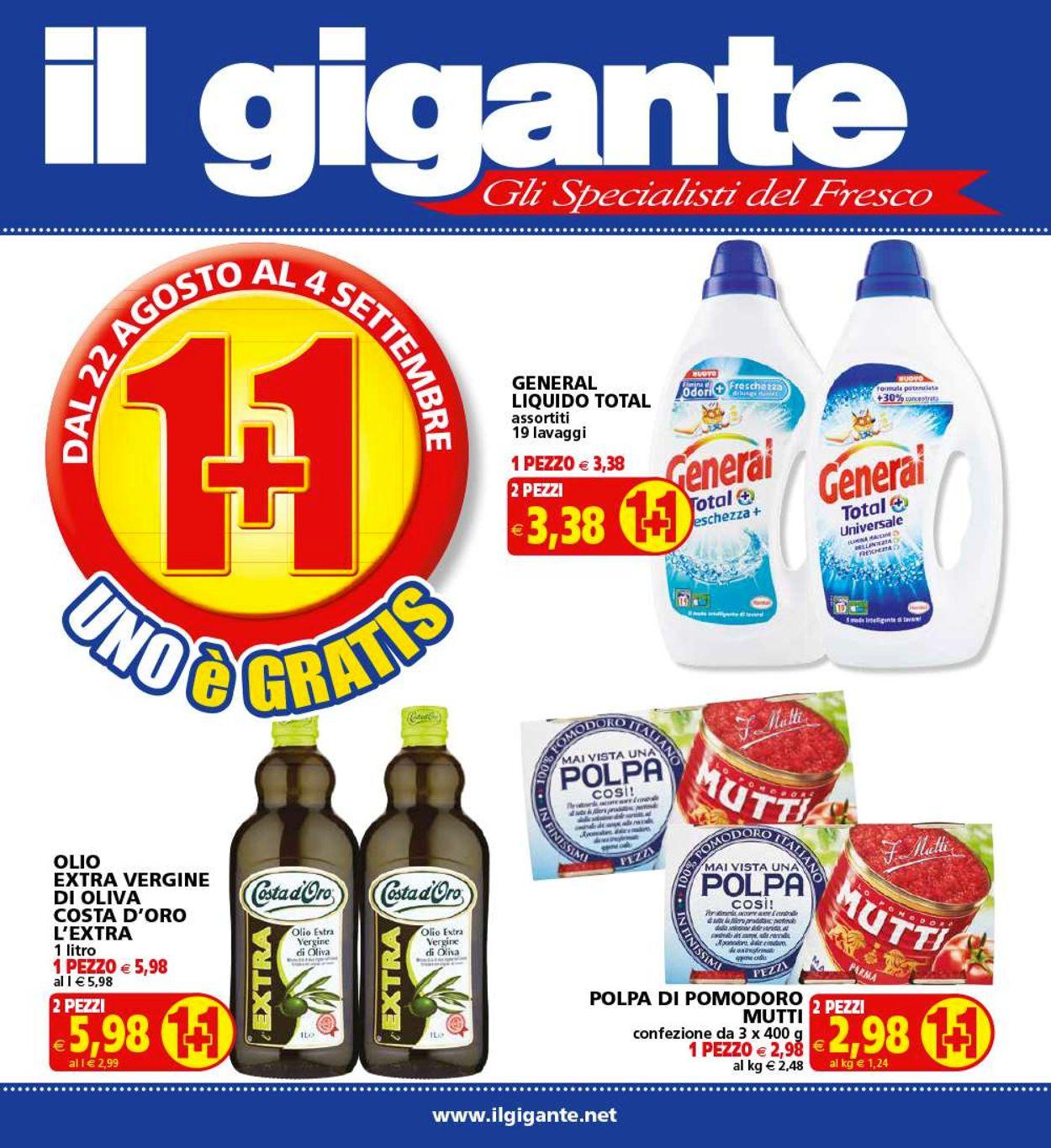 Volantino Il Gigante - Offerte 22/08-04/09/2019