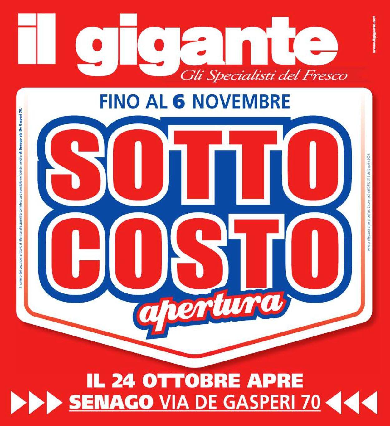 Volantino Il Gigante - Offerte 24/10-06/11/2019