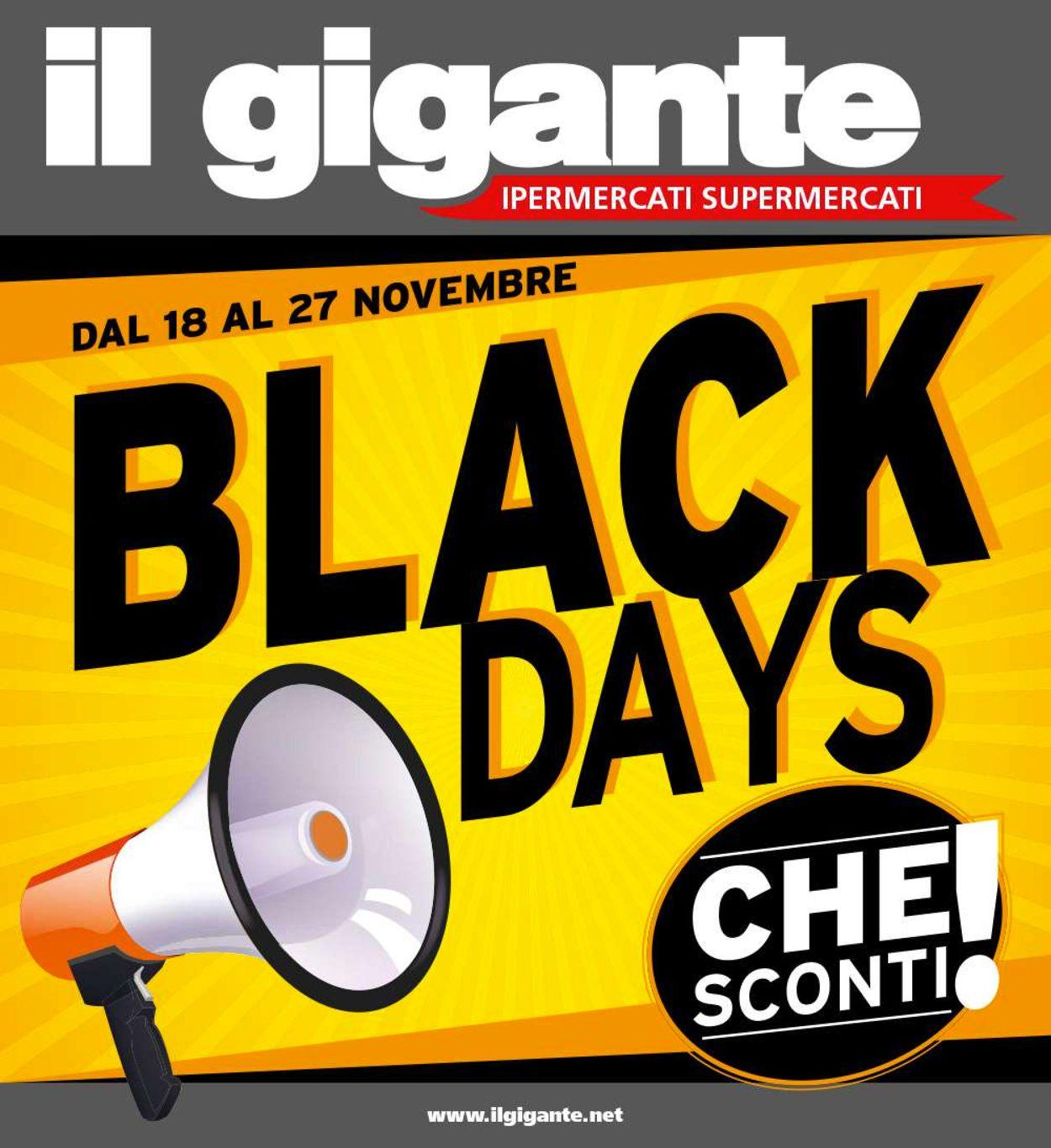 Volantino Il Gigante - Black Friday 2019 - Offerte 18/11-27/11/2019