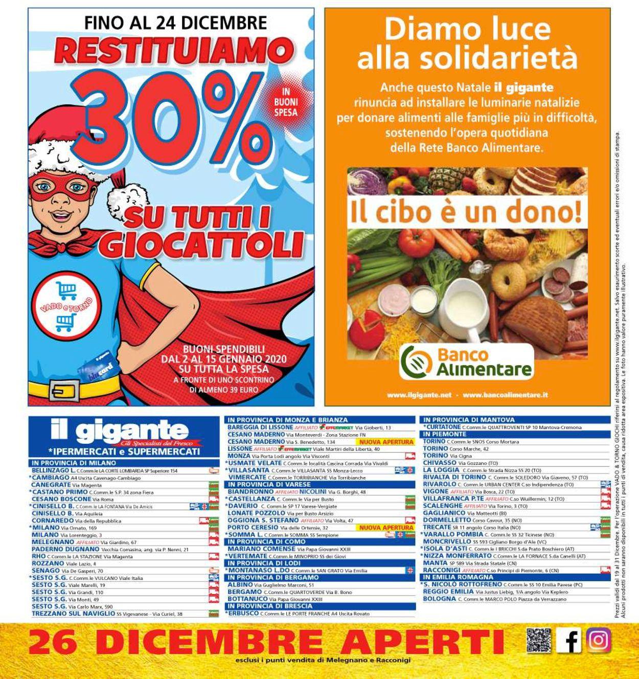 Volantino Il volantino natalizio di Il Gigante - Offerte 19/12-31/12/2019 (Pagina 40)