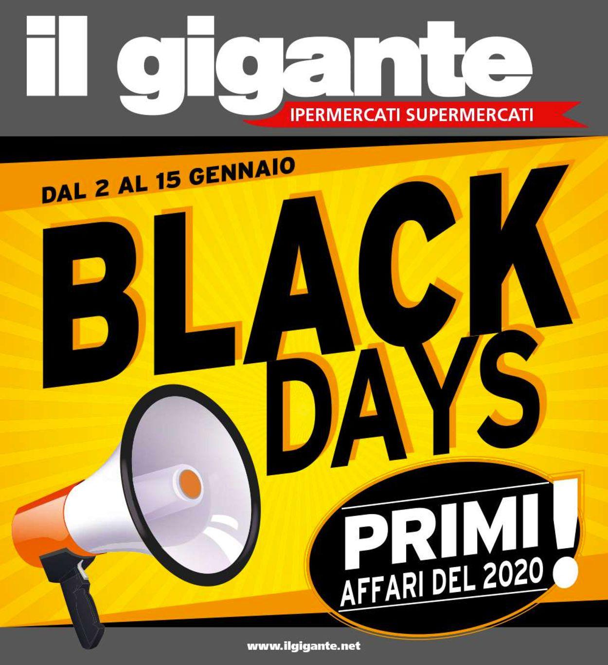 Volantino Il Gigante - Offerte 02/01-15/01/2020