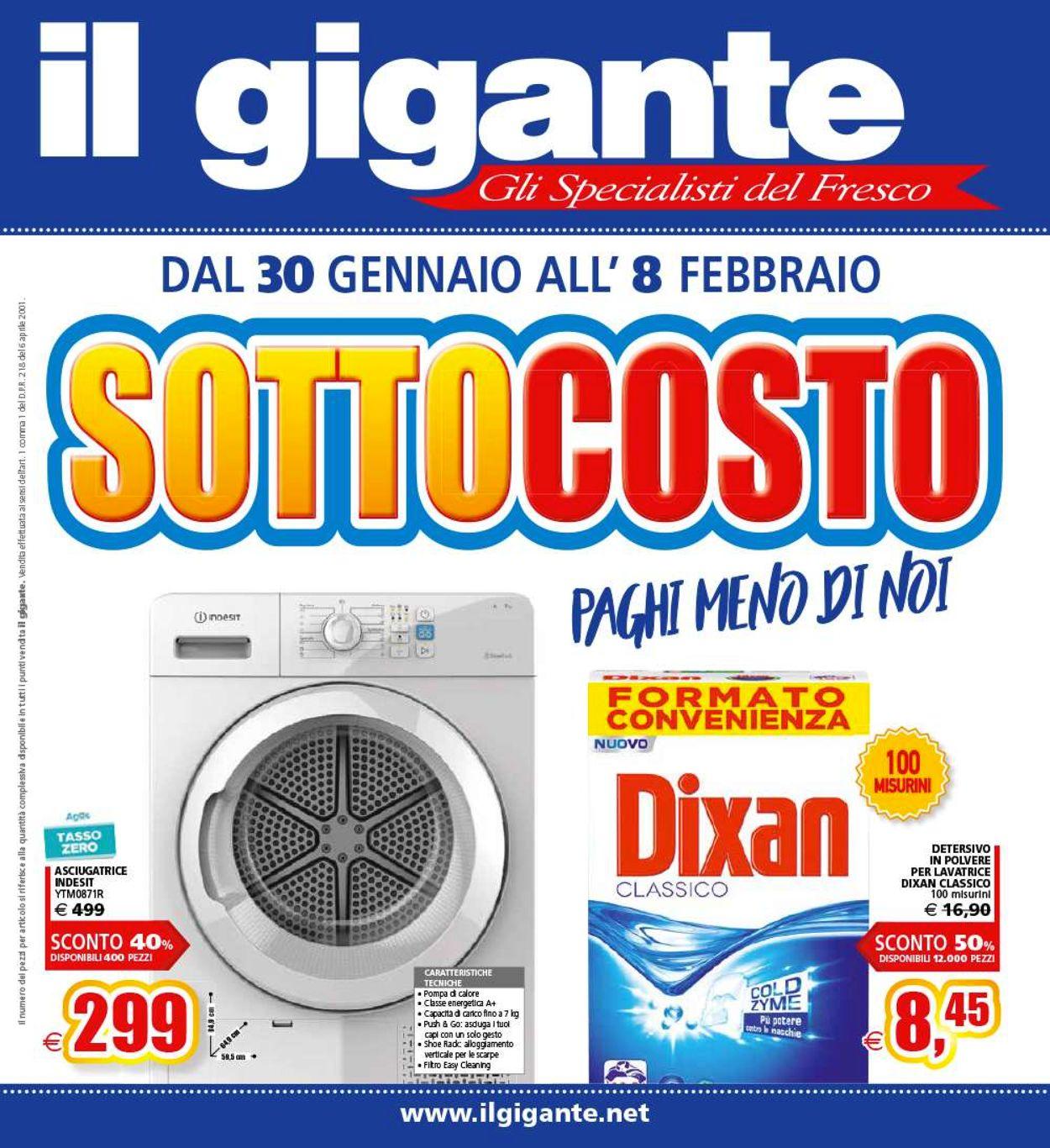 Volantino Il Gigante - Offerte 30/01-08/02/2020