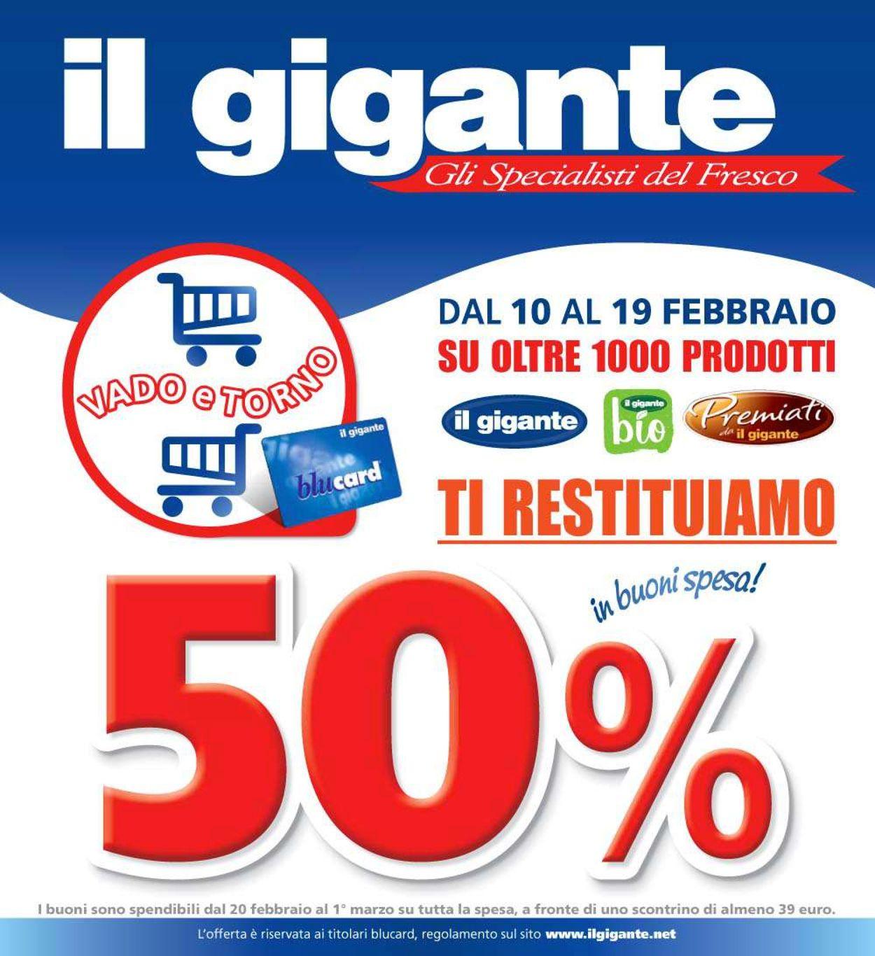 Volantino Il Gigante - Offerte 10/02-19/02/2020
