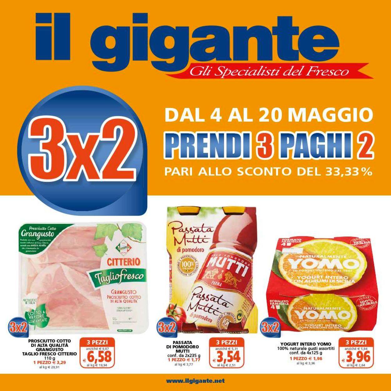 Volantino Il Gigante - Offerte 04/05-20/05/2020